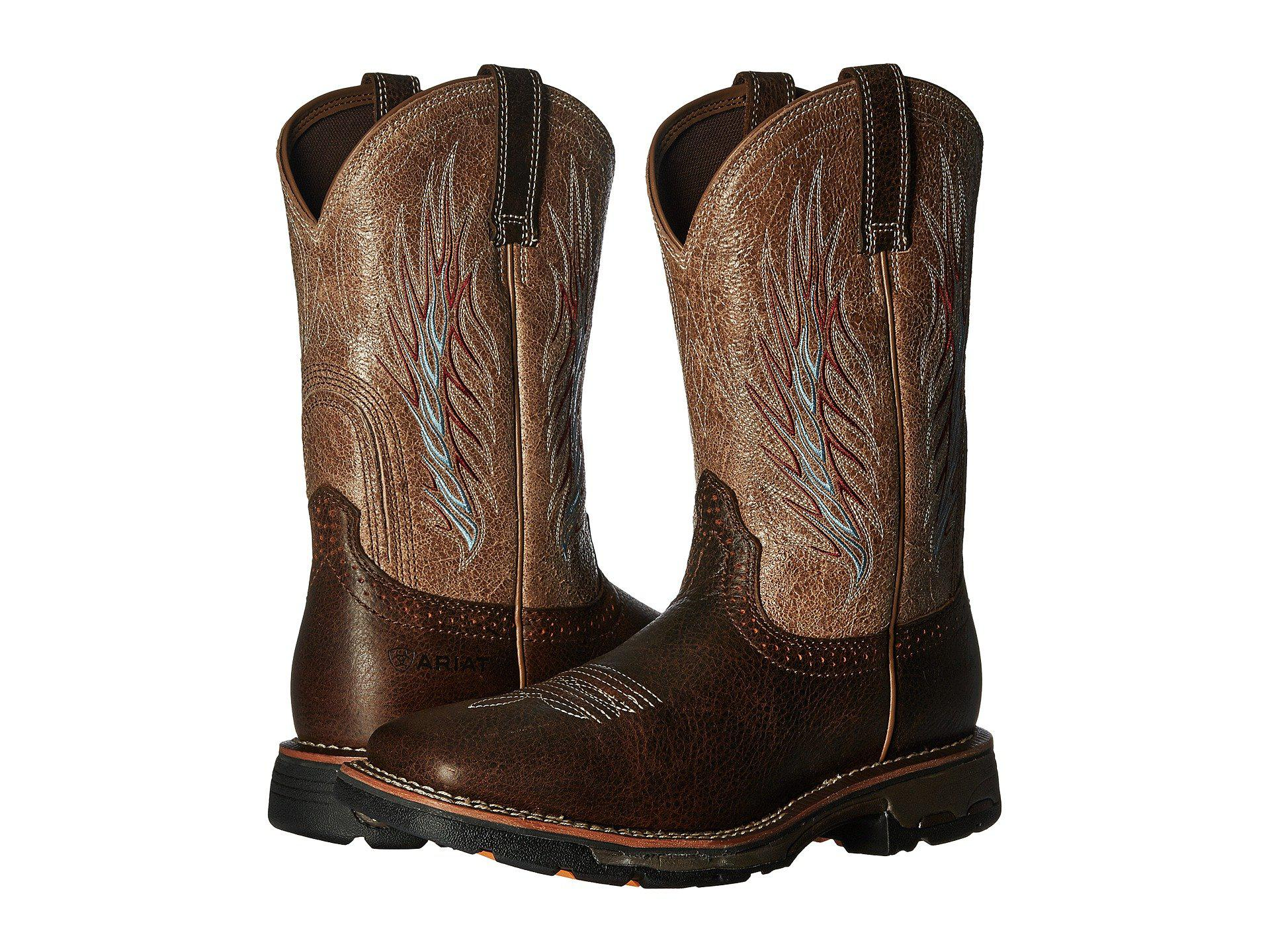 be5d080266b9 Lyst - Ariat Workhog Mesteno Ii (rustic Brown stone) Cowboy Boots in ...