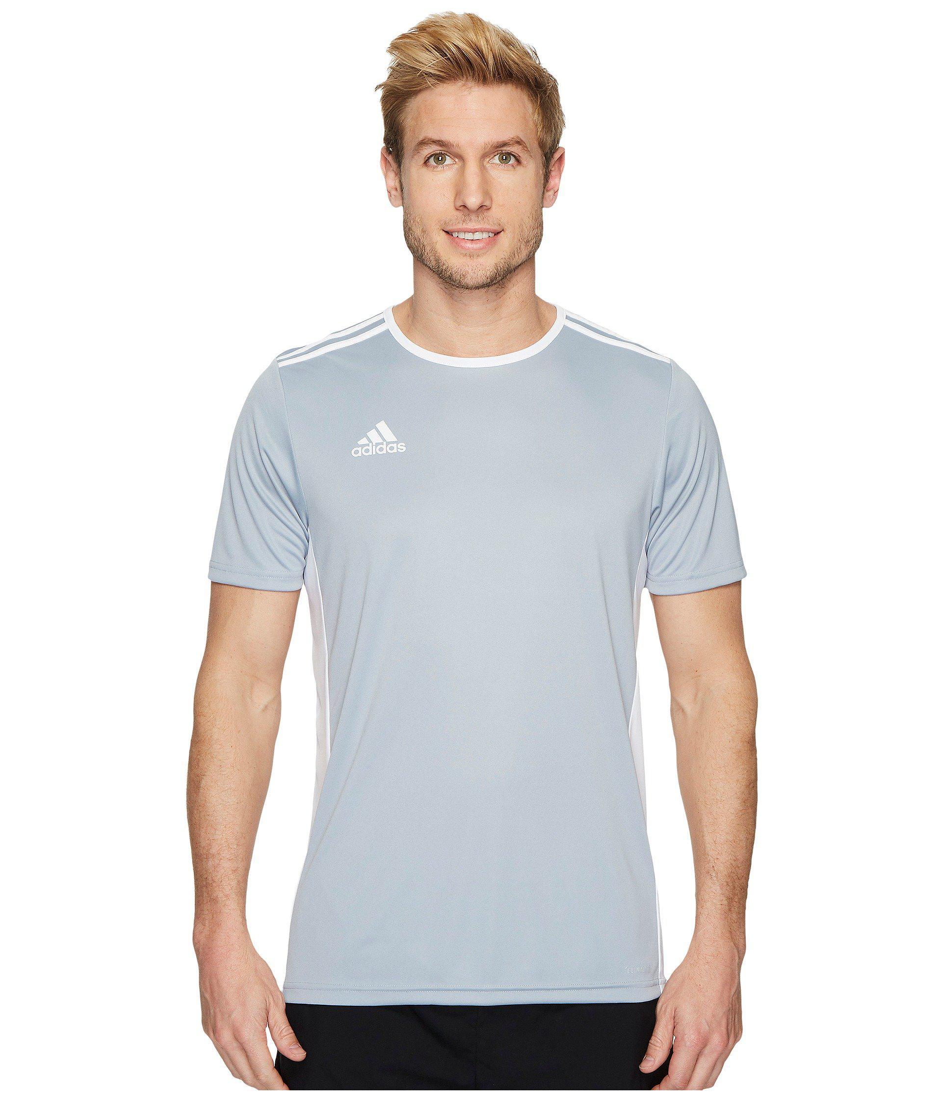 adidas Synthetic Entrada 18 Jersey (light Grey/white) Men's ...