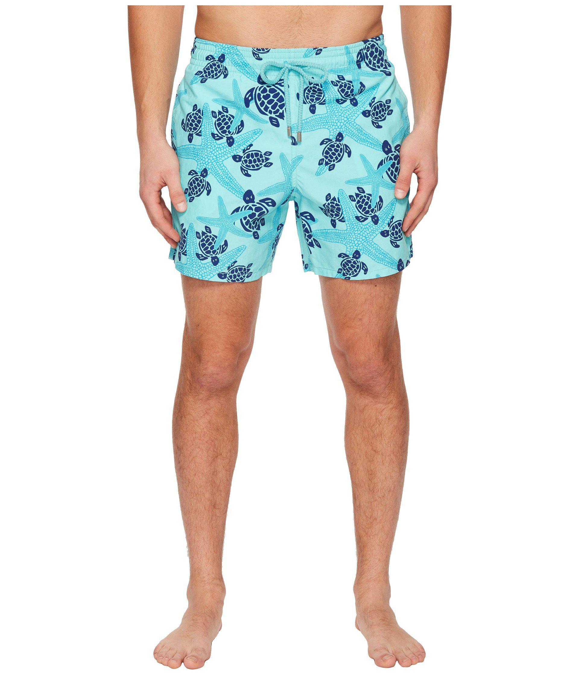 4ff6d46b66f Vilebrequin. Blue Moorea Stars And Turtles Swim Trunk (lagoon) Men s  Swimwear