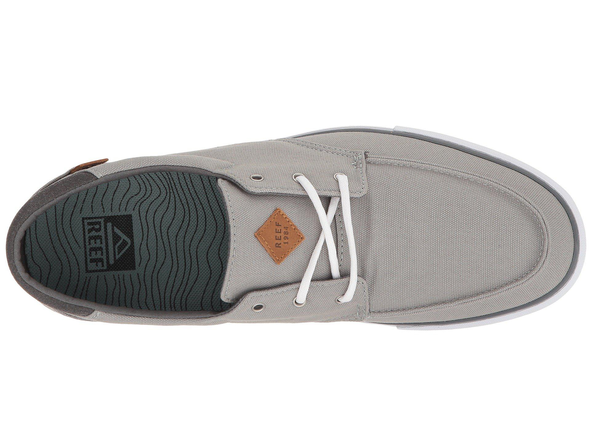 Reef - Gray Deckhand 3 (grey white) Men s Lace Up Casual Shoes for. View  fullscreen 837e7a5e487