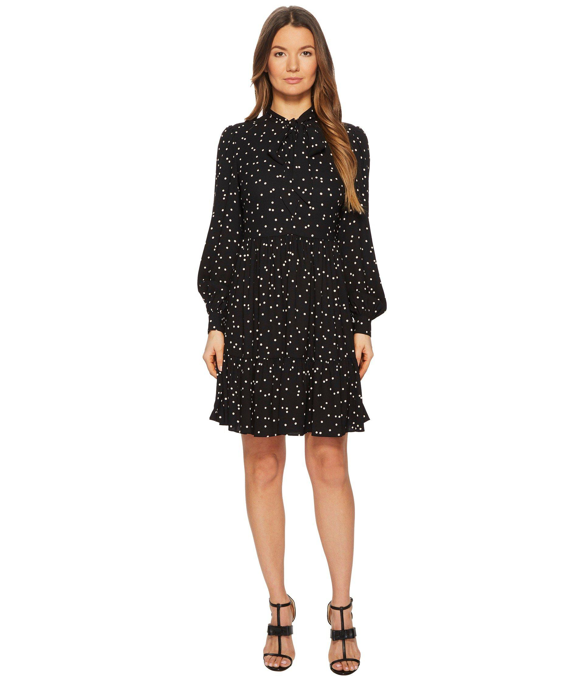 1f3387f9a08 Kate Spade Scatter Dot Shirtdress in Black - Lyst