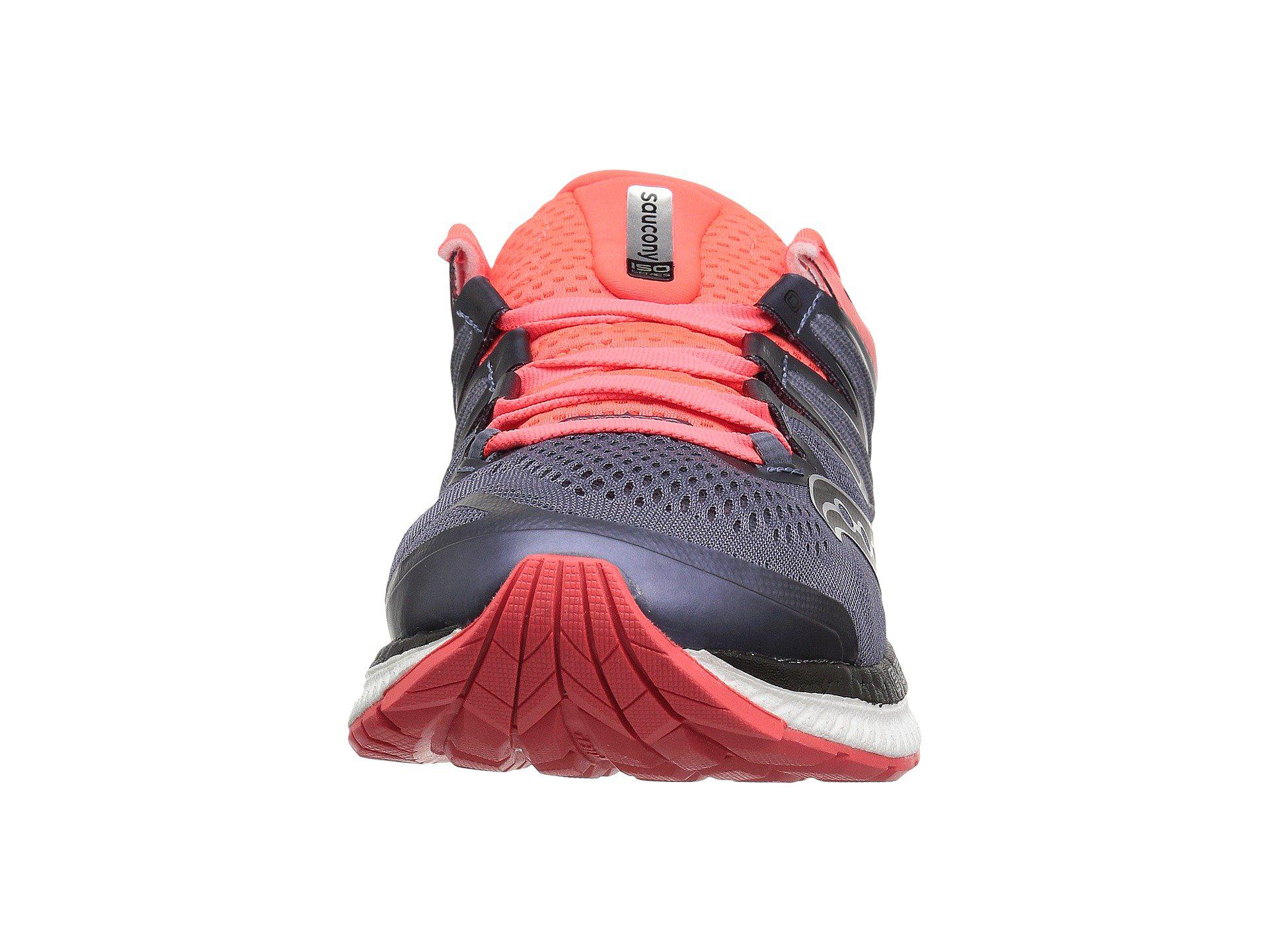 Saucony Hurricane Iso 4 Grey Black Vizi Red Women S