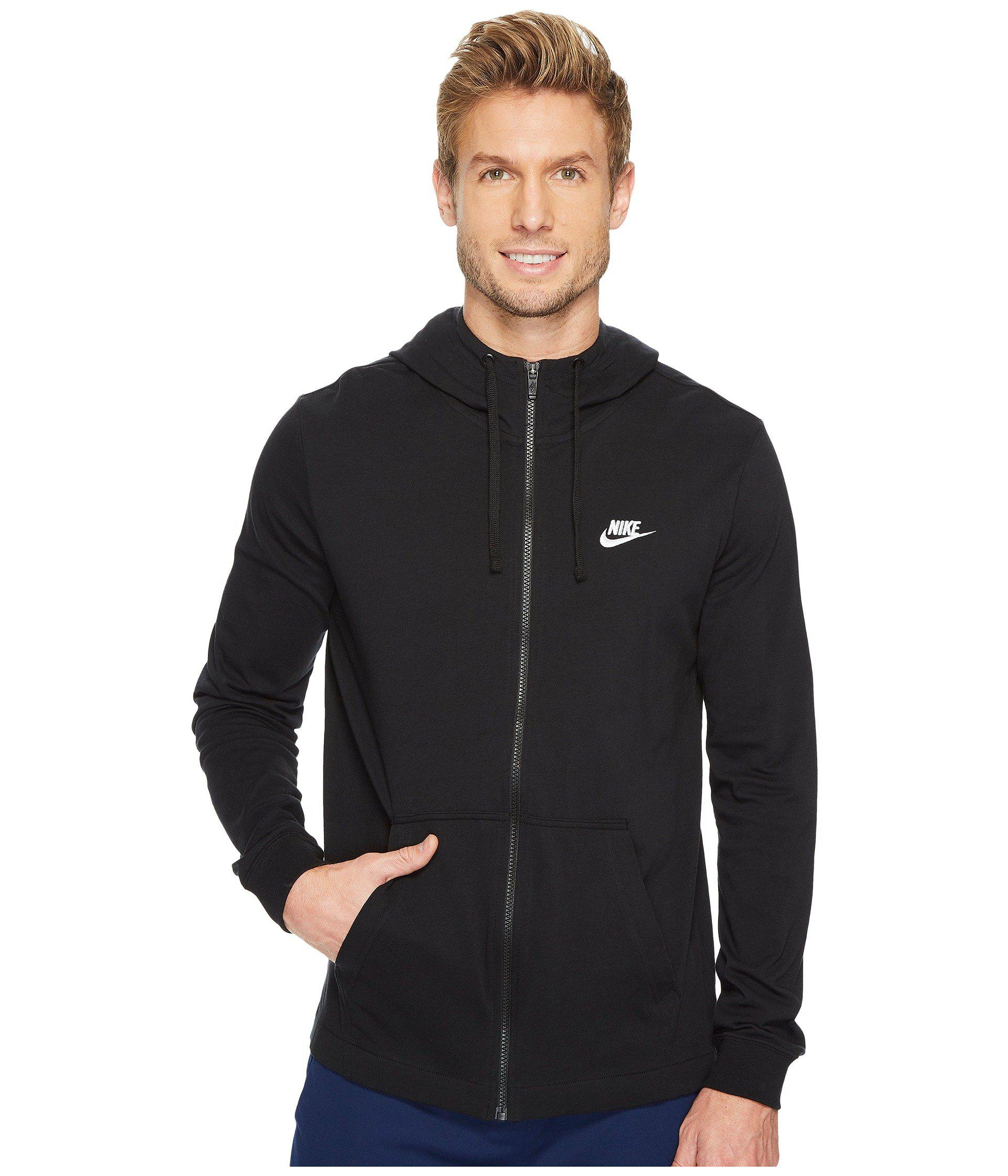 69867396b899 Nike - Black Sportswear Full-zip Hoodie (dark Grey Heather white) Men s.  View fullscreen