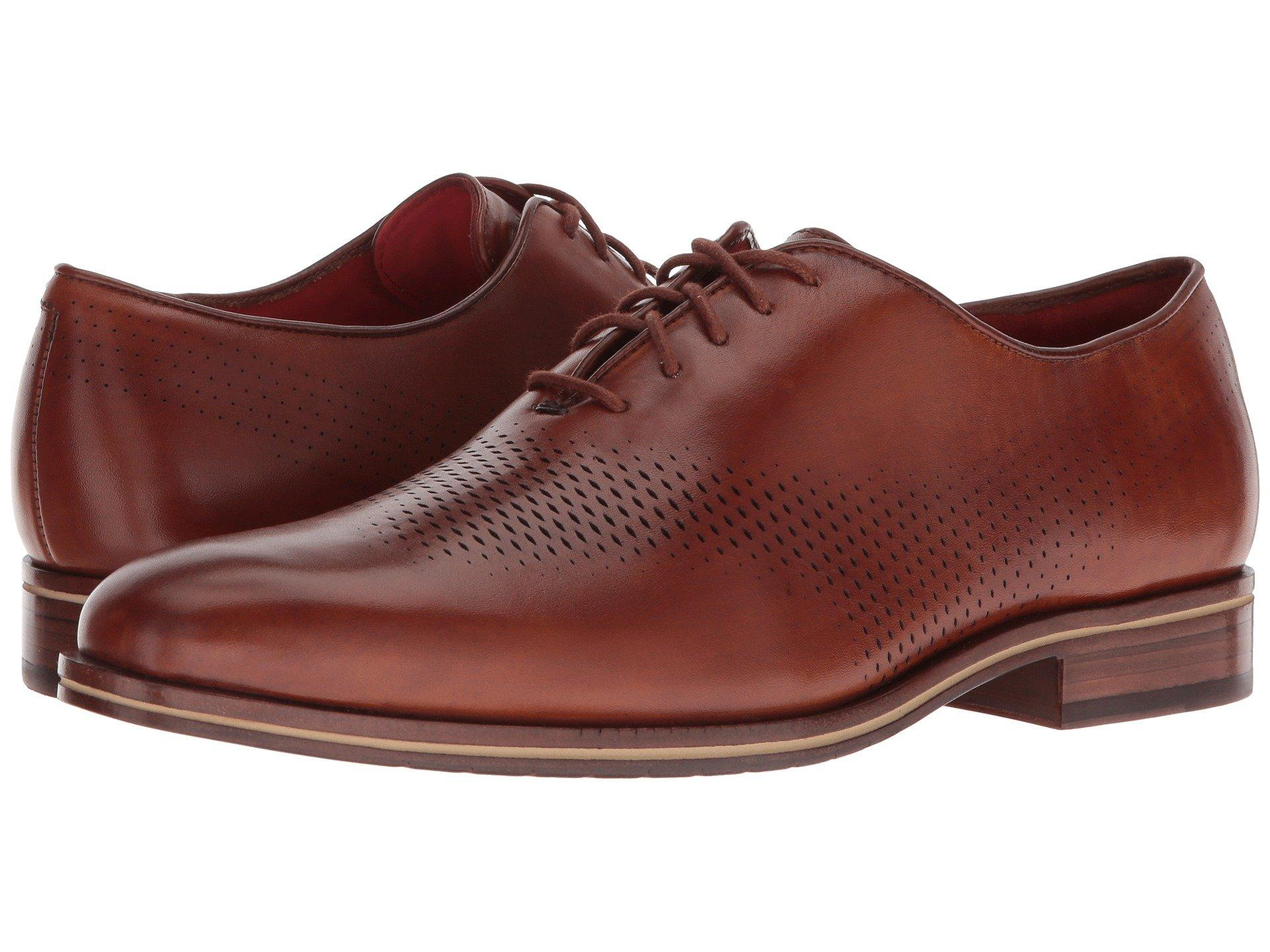 Cole Haan Leather Washington Grand Laser Wing Oxford in Tan (Brown) for Men  - Lyst