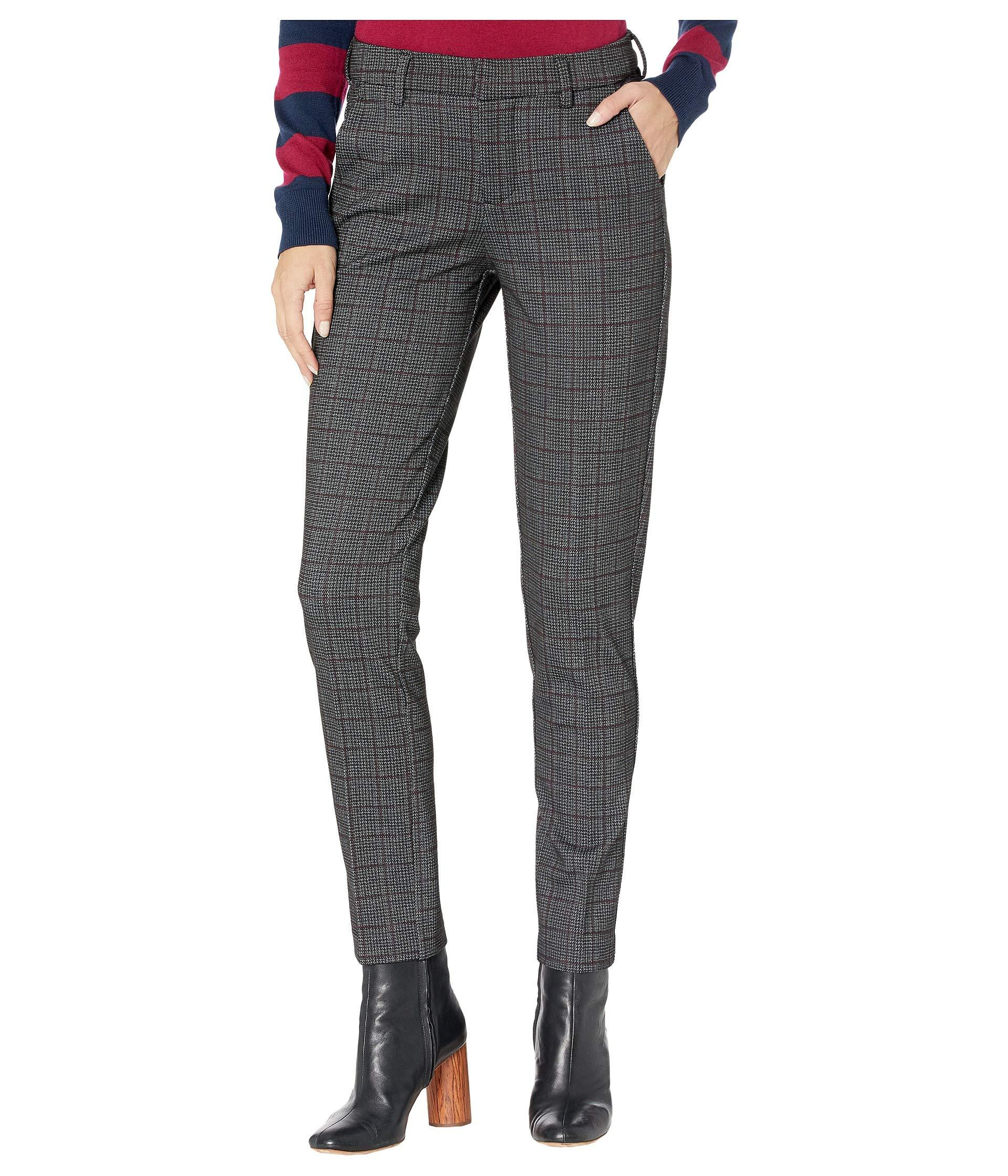 Liverpool Jeans Company Synthetic Kelsey Knit Trousers In Textured Grid Plaid Knit Lyst