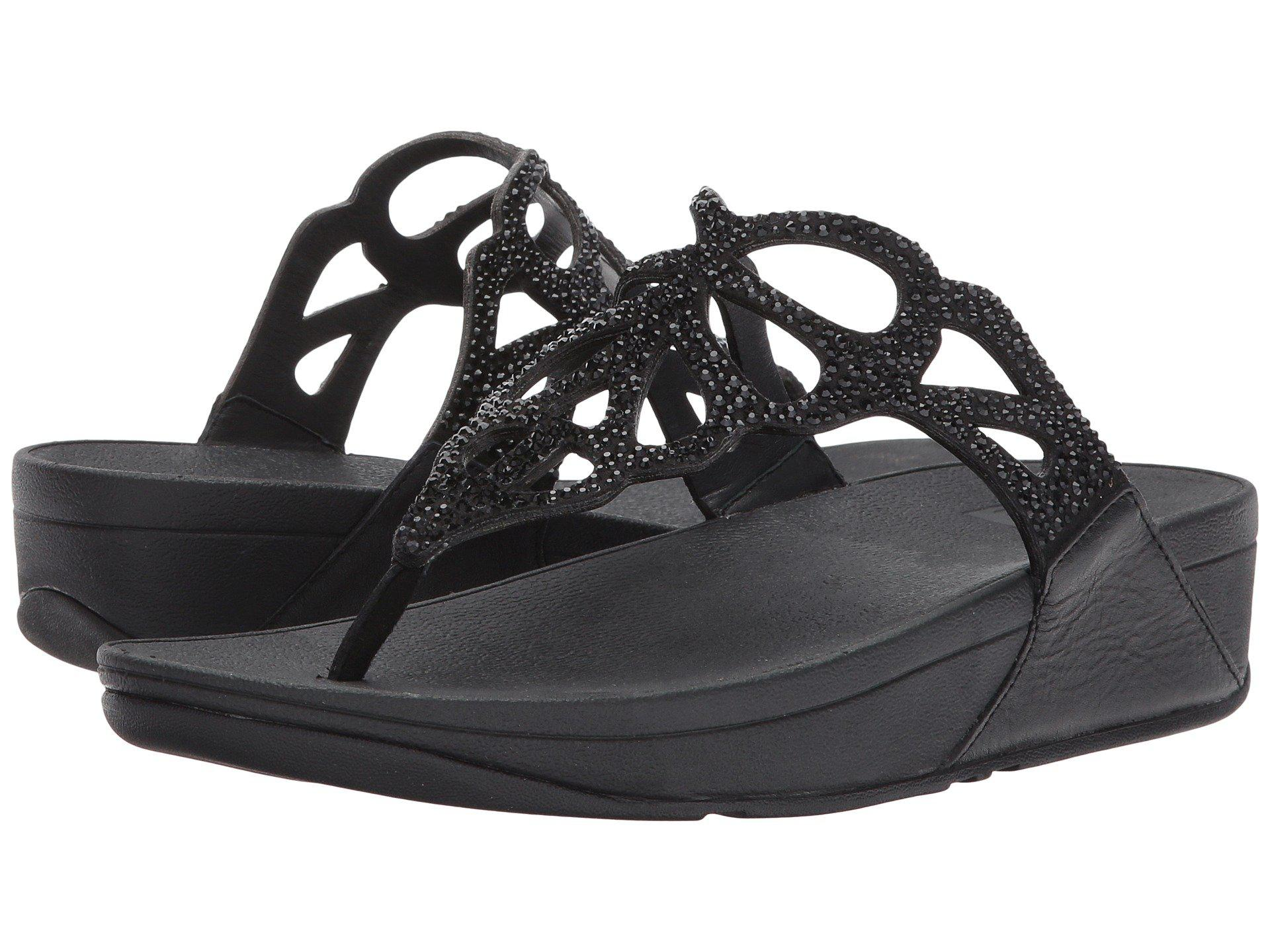 a04bac690 Lyst - Fitflop Bumble Crystal Toe Post (black) Women s Shoes in Black
