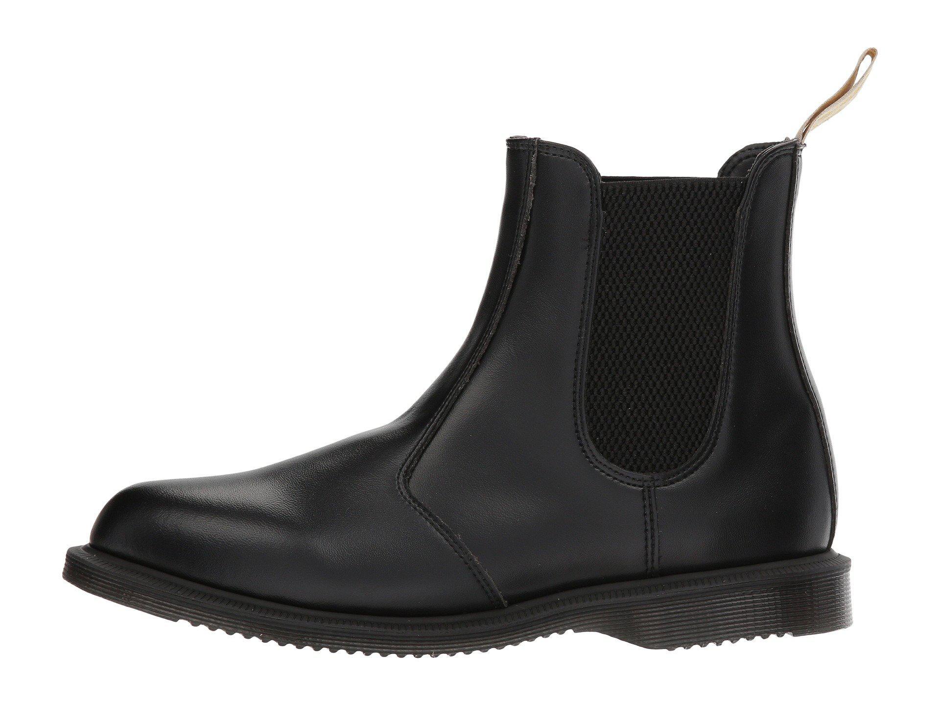 Neu Dr Martens Vegan Flora Chelsea Stiefel Damen Im Schwarz Sale