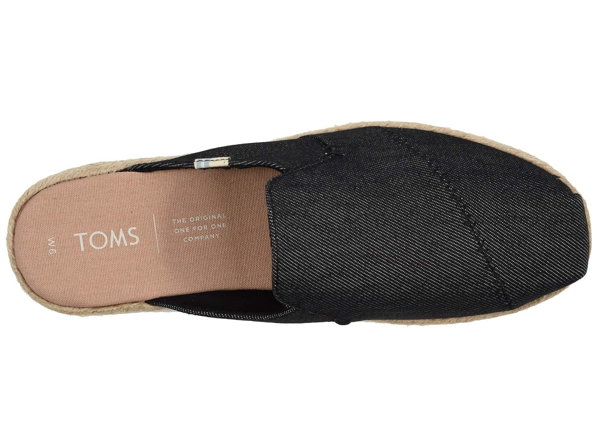 3c8e96377641 TOMS - Nova (black Denim) Women s Shoes - Lyst. View fullscreen