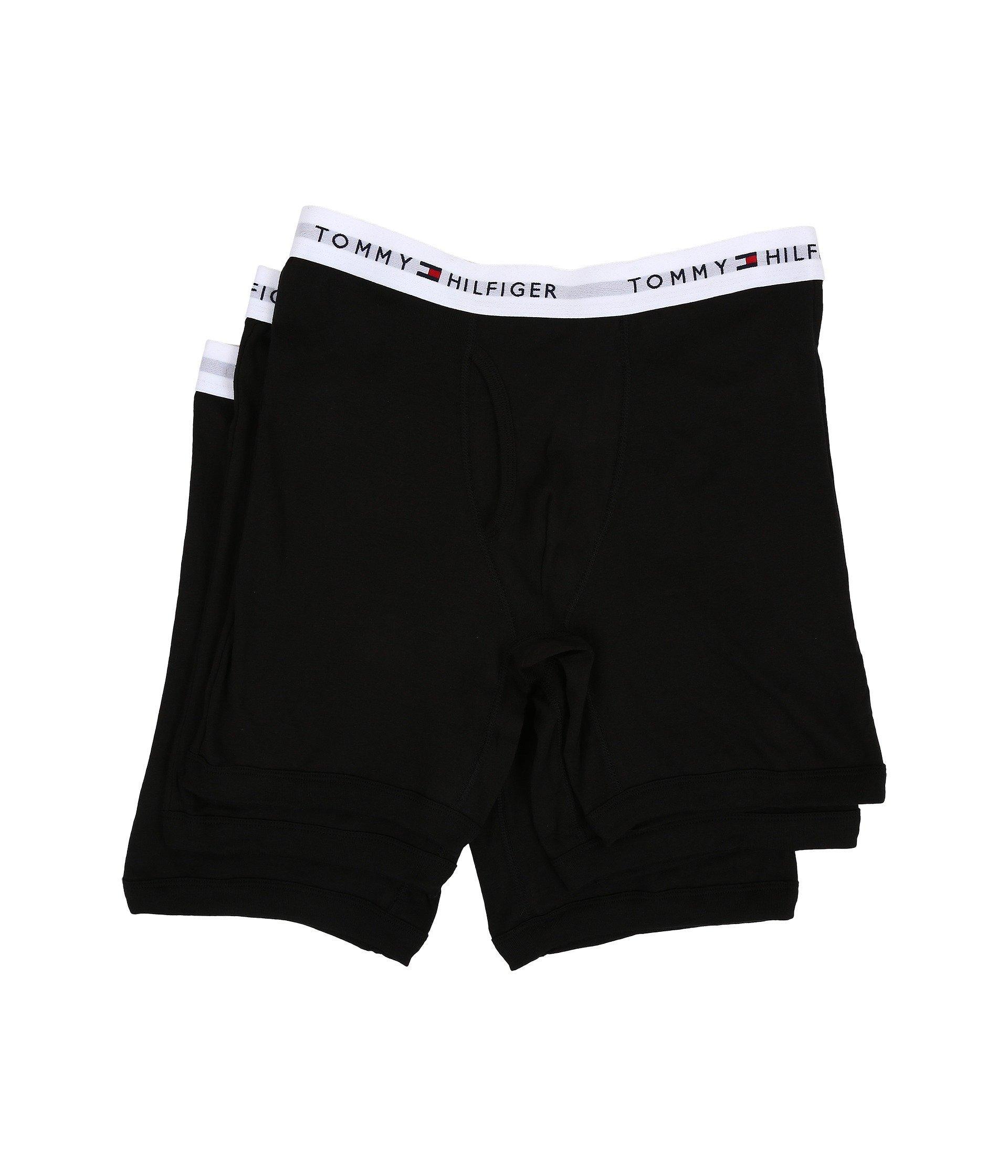 9e26163f9f7a Tommy Hilfiger. Black Cotton Boxer Brief 3-pack (caper) Men's Underwear