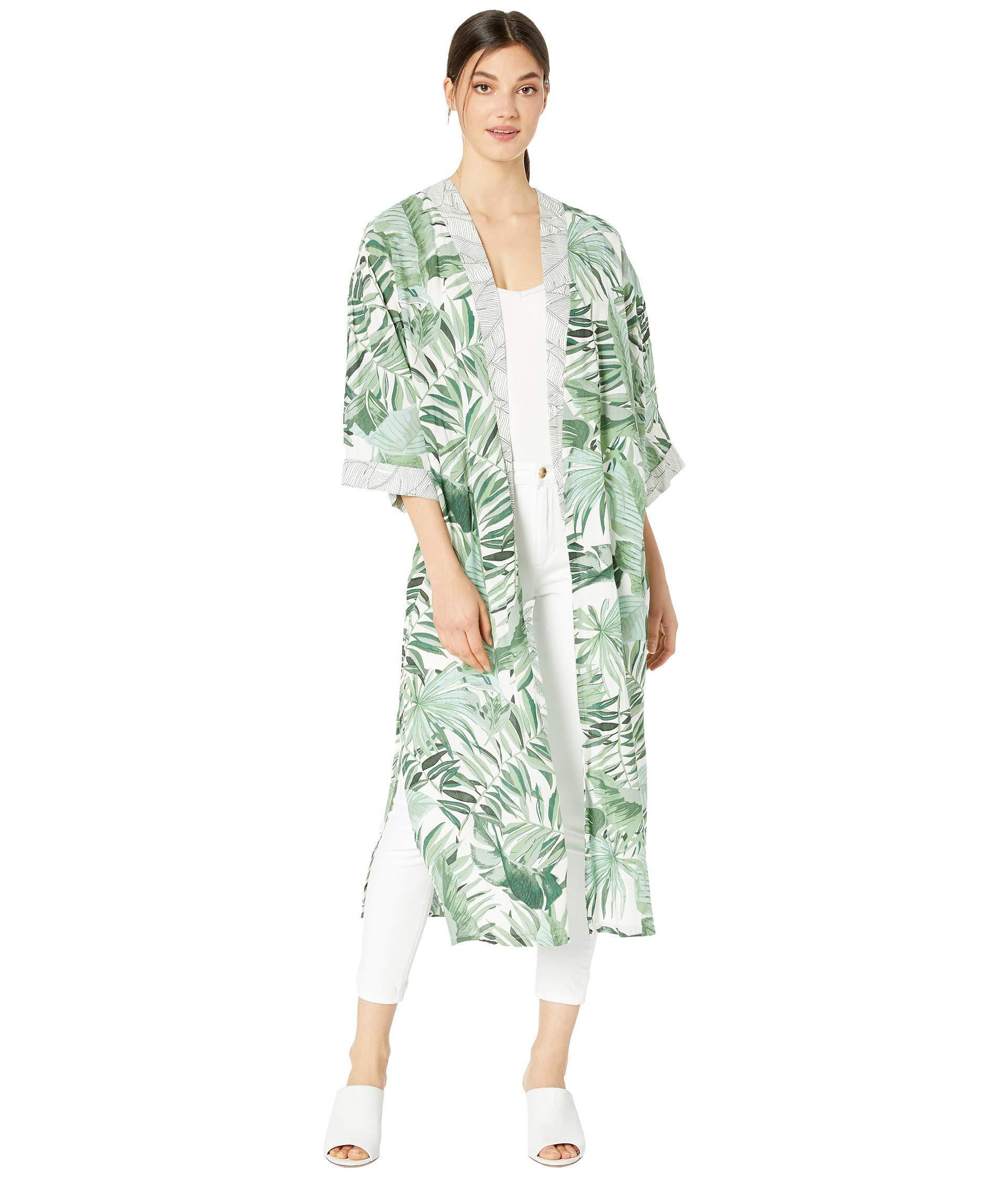 97749c7b10 Lyst - Rip Curl Palm Reader Kimono (green) Women s Clothing in Green