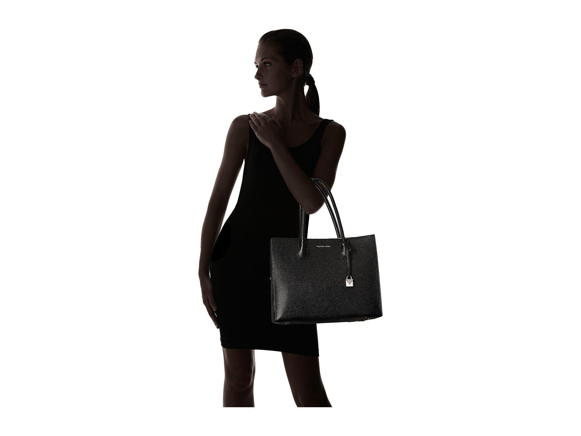 881fa9405112c ... usa lyst michael michael kors mercer xl tote black tote handbags in  a2204 a579b ...