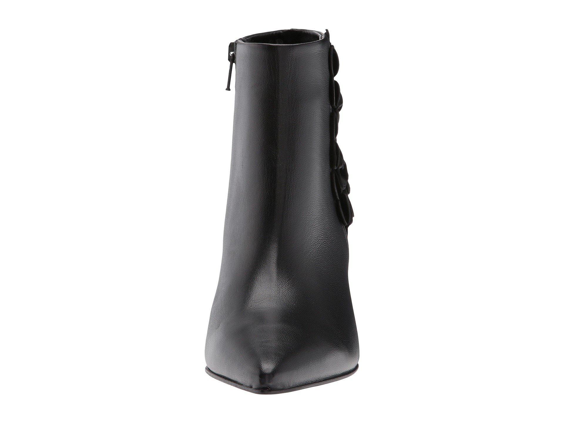 Liz Floral Boot, Schwarz Nappa
