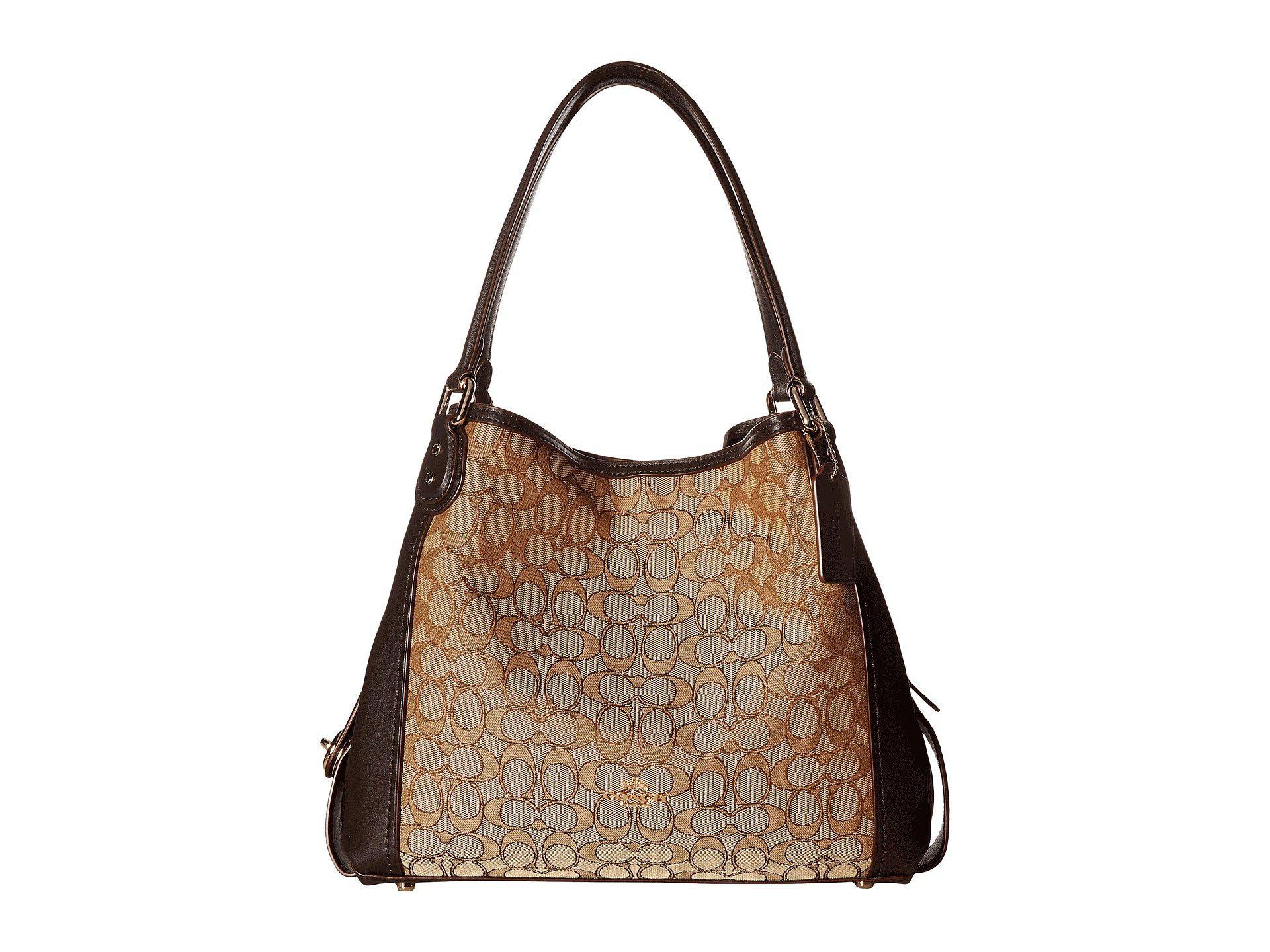 77a47f8eab ... good coach. womens brown signature edie 31 shoulder bag df174 1fb75