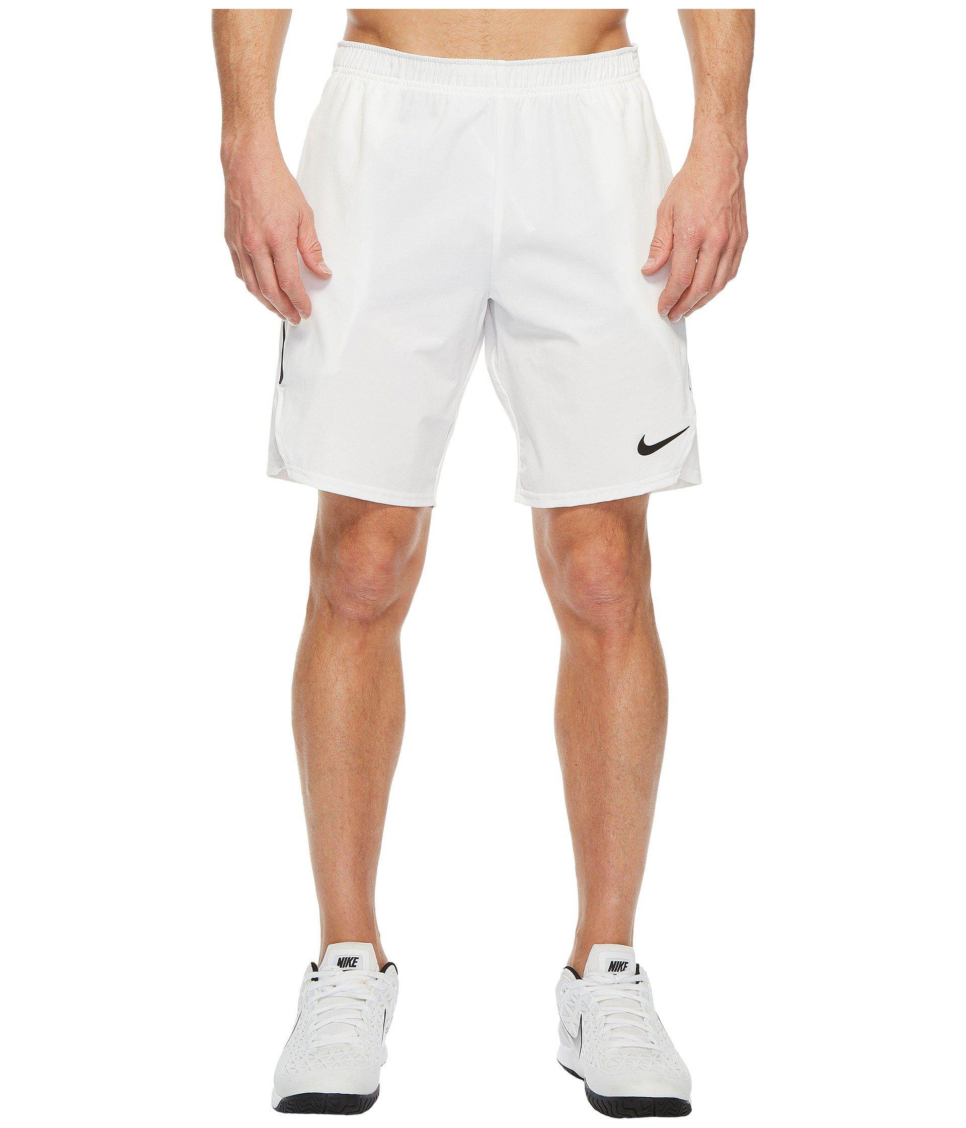 3bcf5032629dd Nike - Court Flex Ace 9 Tennis Short (white black black) Men s. View  fullscreen