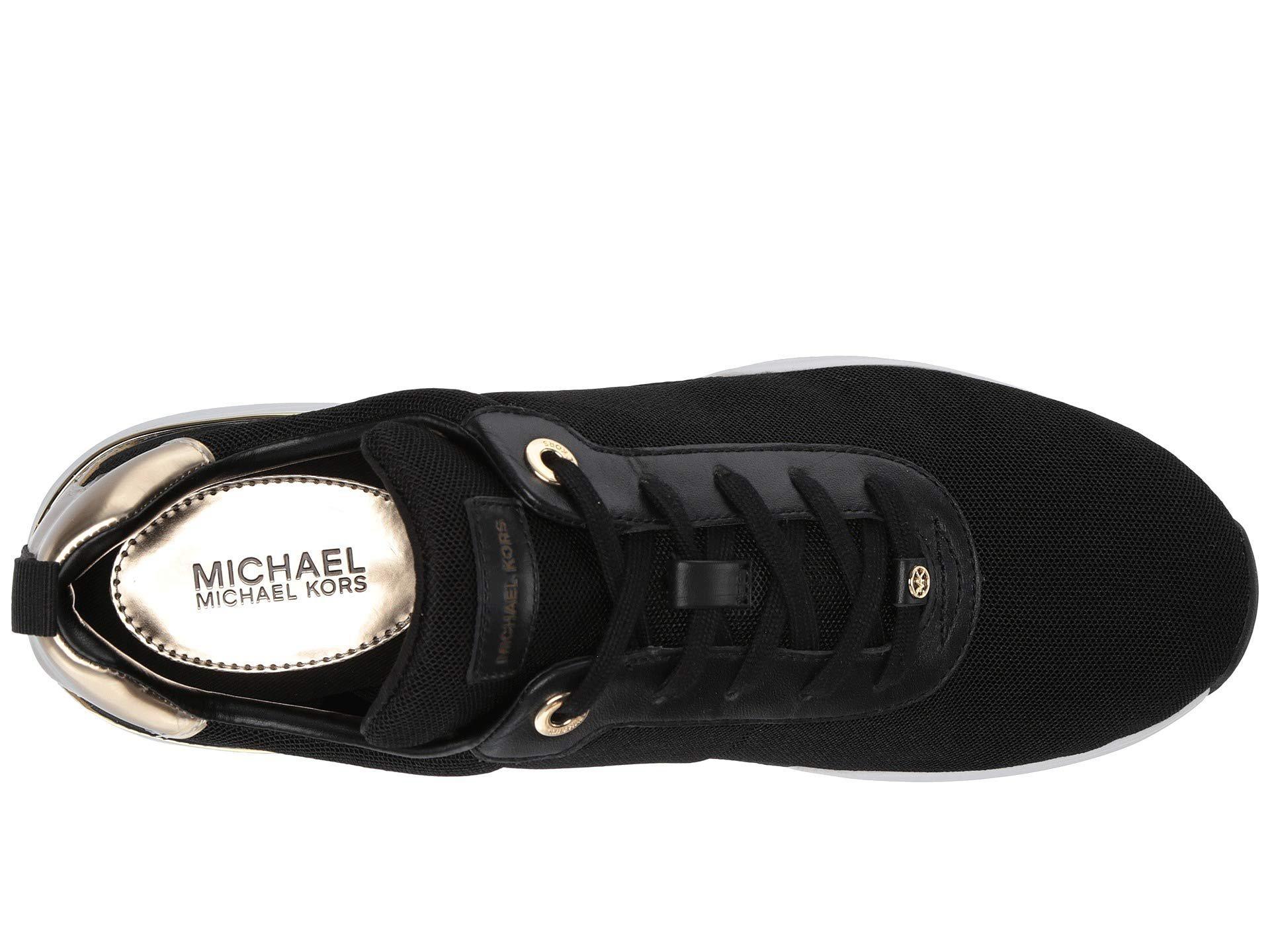 69e9930a11e Lyst - MICHAEL Michael Kors Jada Trainer (black gold Small Air Mesh ...