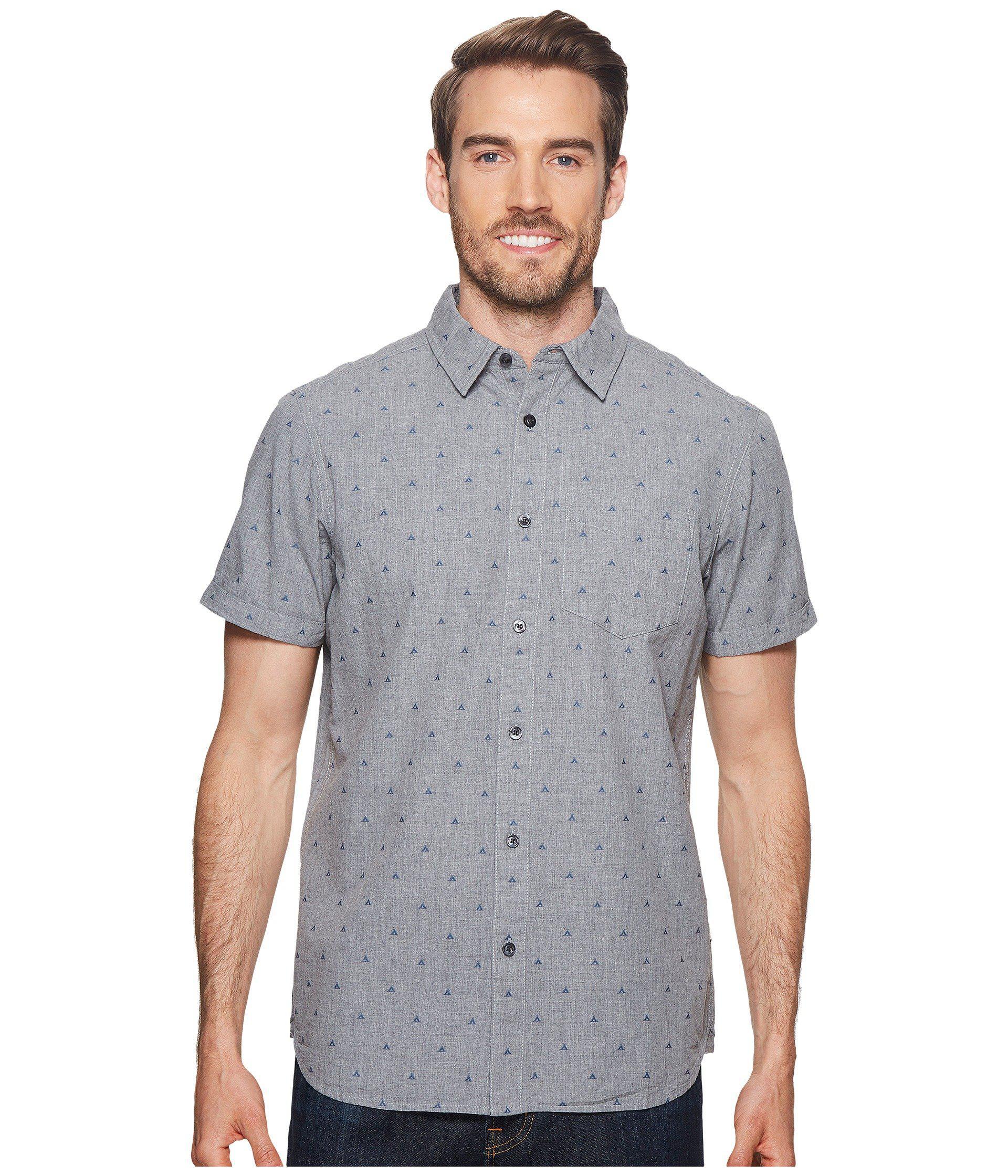 addab4e20 Men's Short Sleeve Bay Trail Jacquard Shirt (tnf Medium Gray Heather/tent  Clip Dot) Short Sleeve Button Up