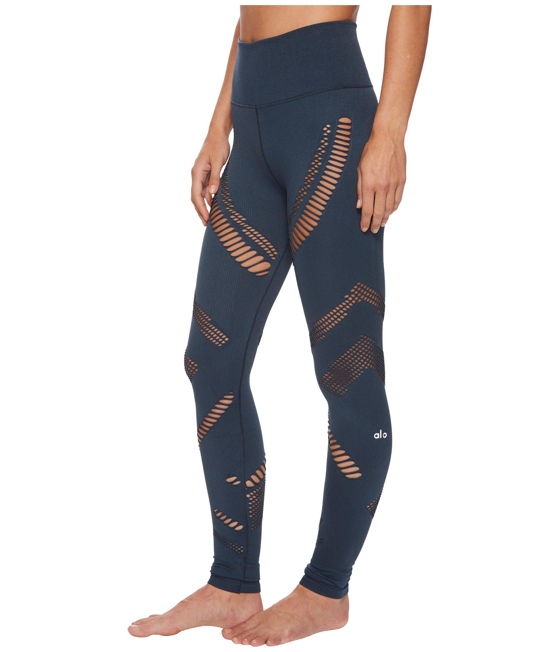 27b809eb4a Alo Yoga High-waist Seamless Radiance Leggings (black) Women's ...