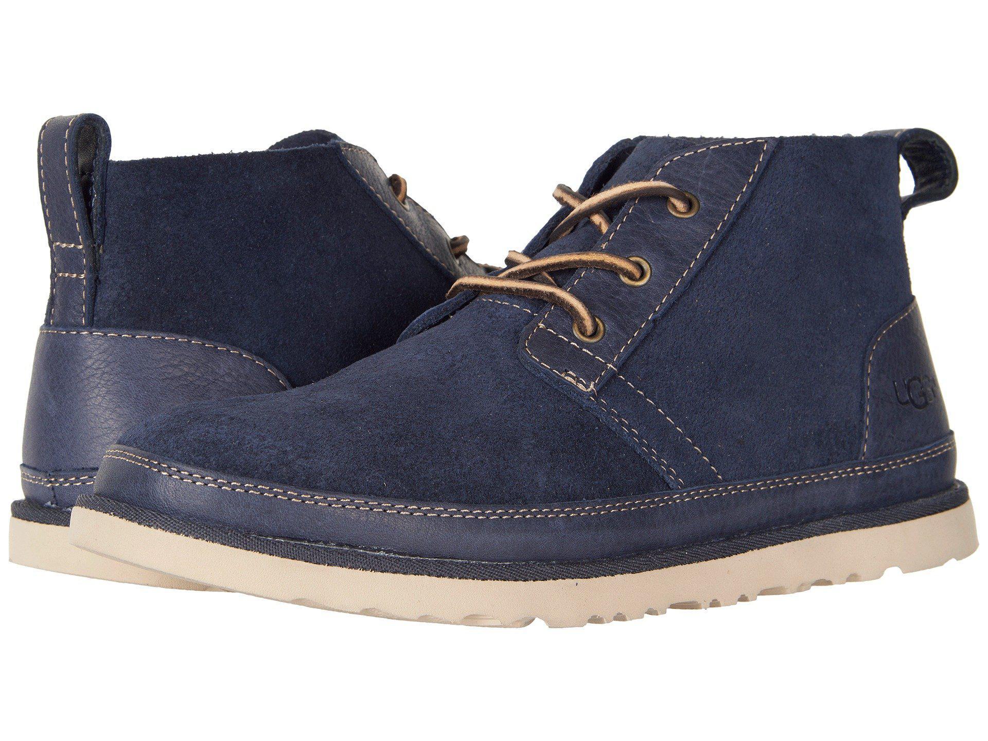 2463ef827a3 Ugg Blue Neumel Unlined Leather (navy) Men's Shoes for men