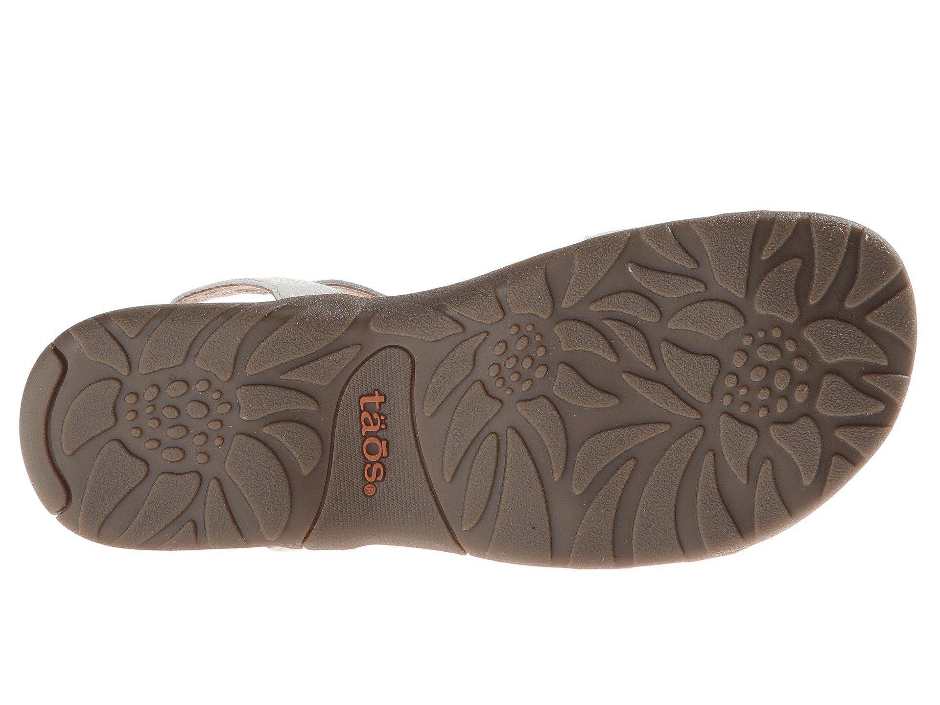4f0550d27c00f9 Lyst - Taos Footwear Trophy (blush) Women s Sandals in White