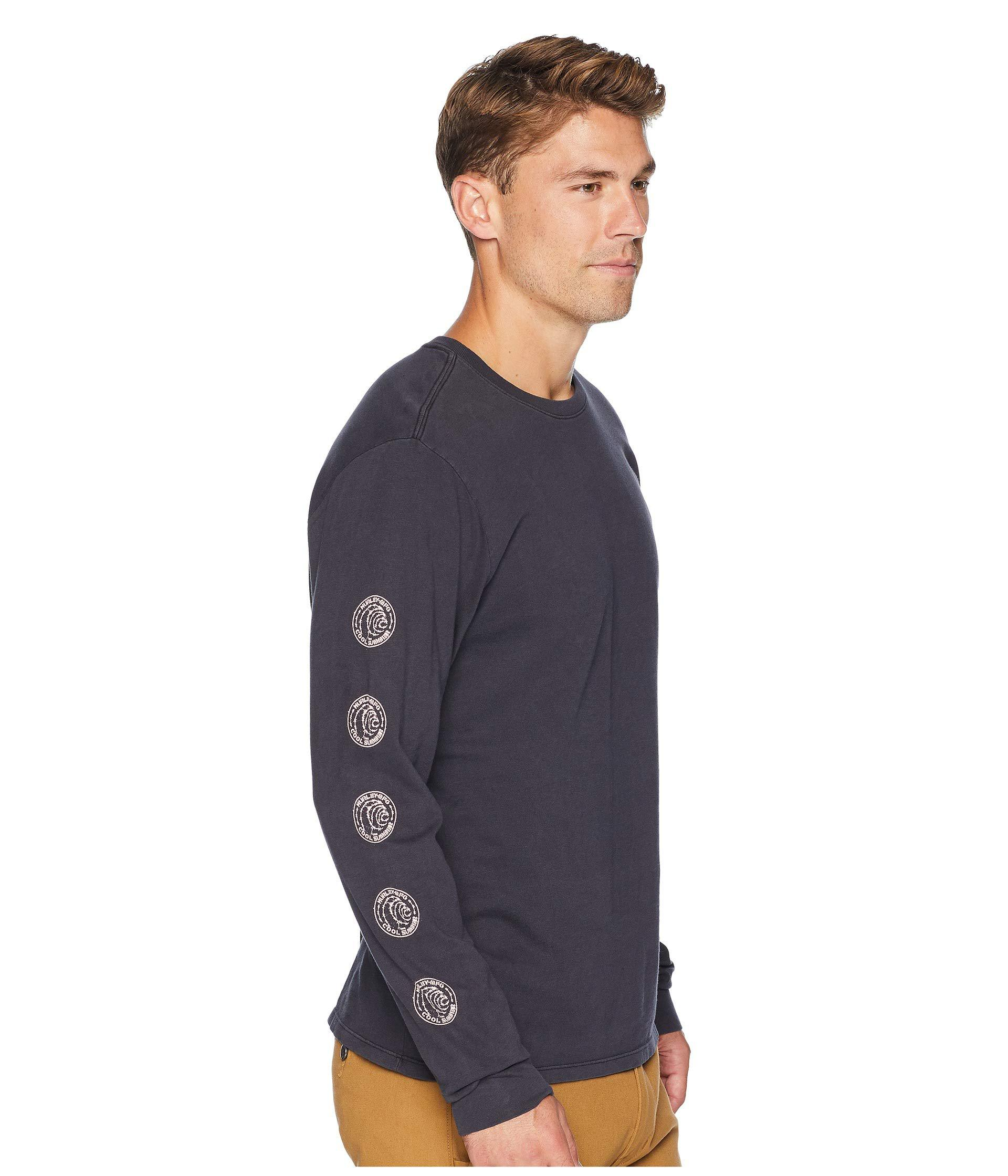 e86a2e3ad4b Lyst - Hurley Heavy Cool Summer Long Sleeve Tee (anthracite) Men s ...