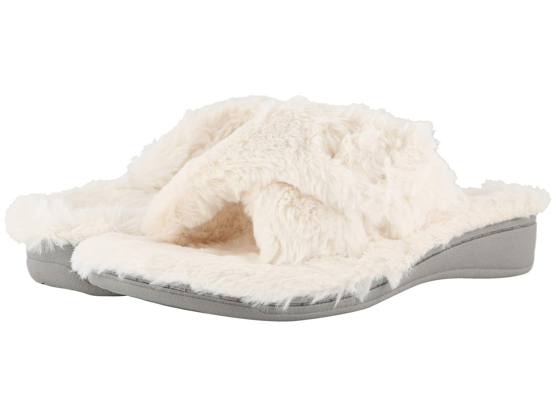 a15a7ce540b Lyst - Vionic Relax Plush (black) Women s Slippers in White