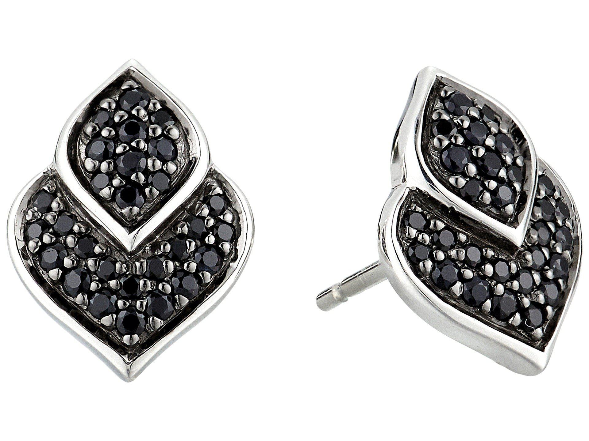 John Hardy Naga Stud Earring With Black Sapphire, Black Spinel Black spinel
