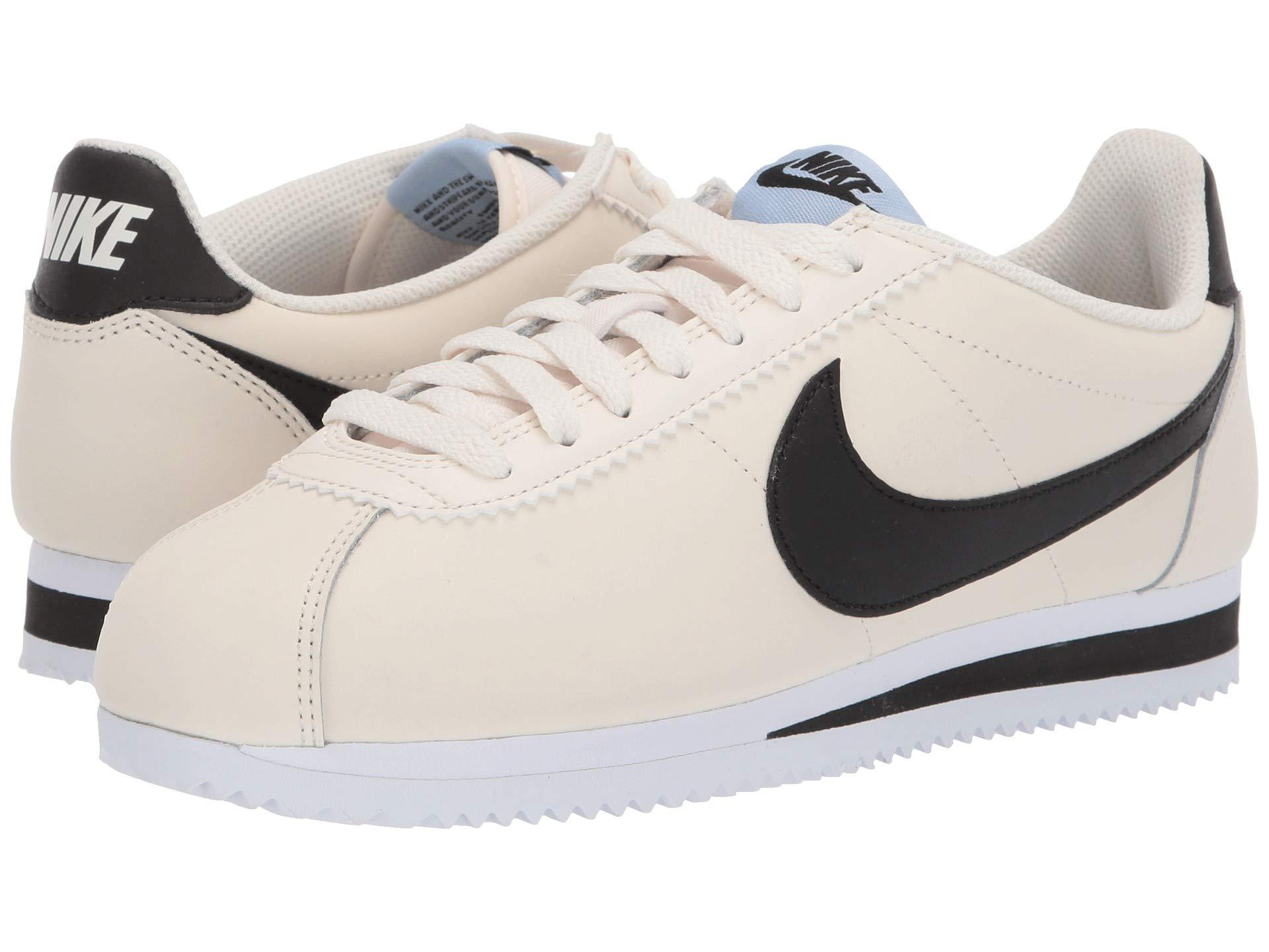 7132b4c6078d Lyst - Nike Classic Cortez Leather (white black white) Women s Shoes ...