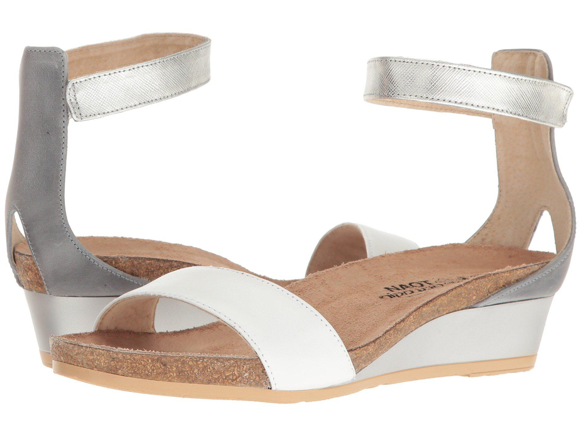 5718b6109ba Lyst - Naot Pixie (oily Olive Suede arizona Tan Leather pewter ...