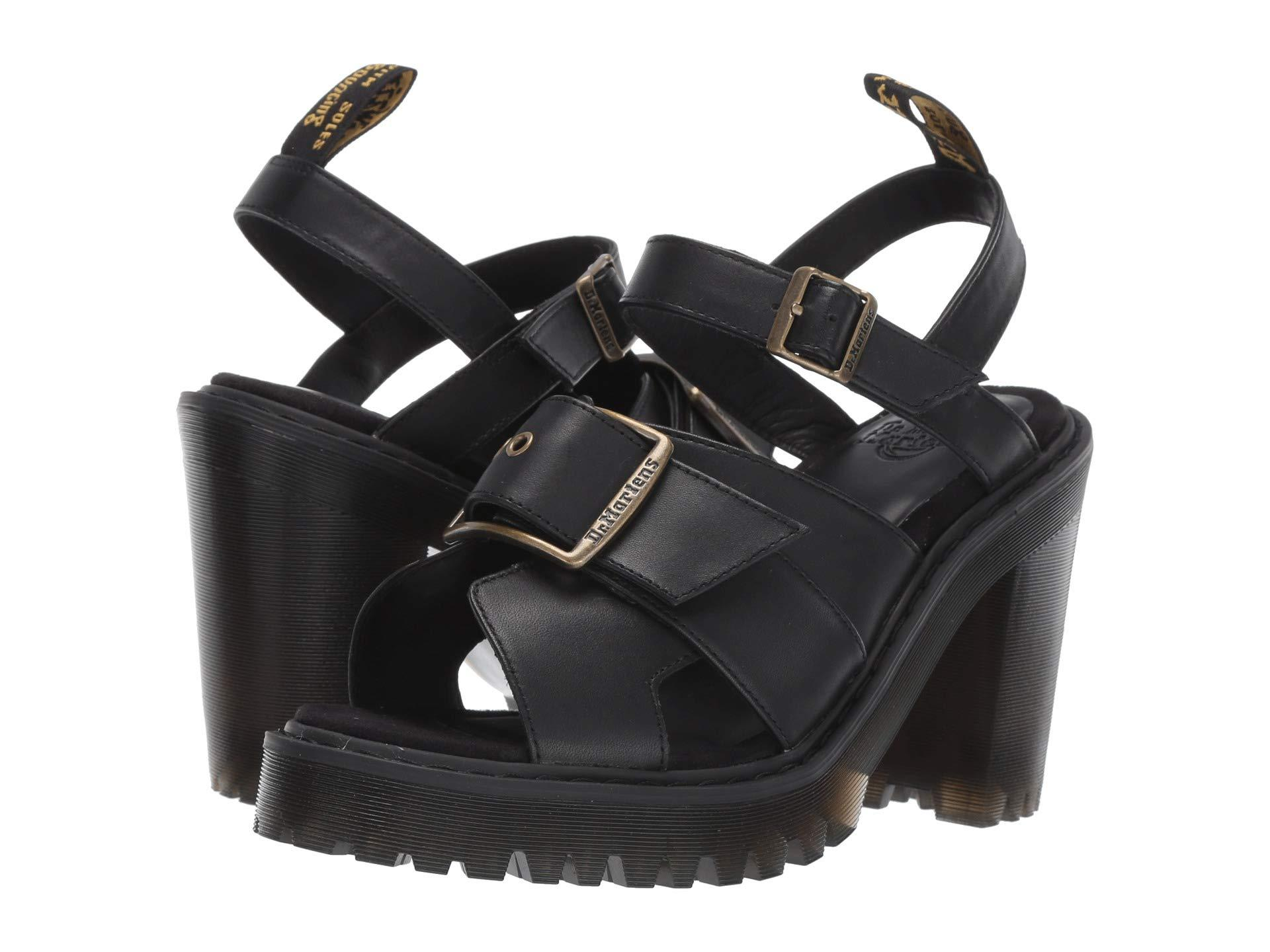 c02b7b0483dc Lyst - Dr. Martens Granik Sandal (black Smooth) Women s Sandals in Black