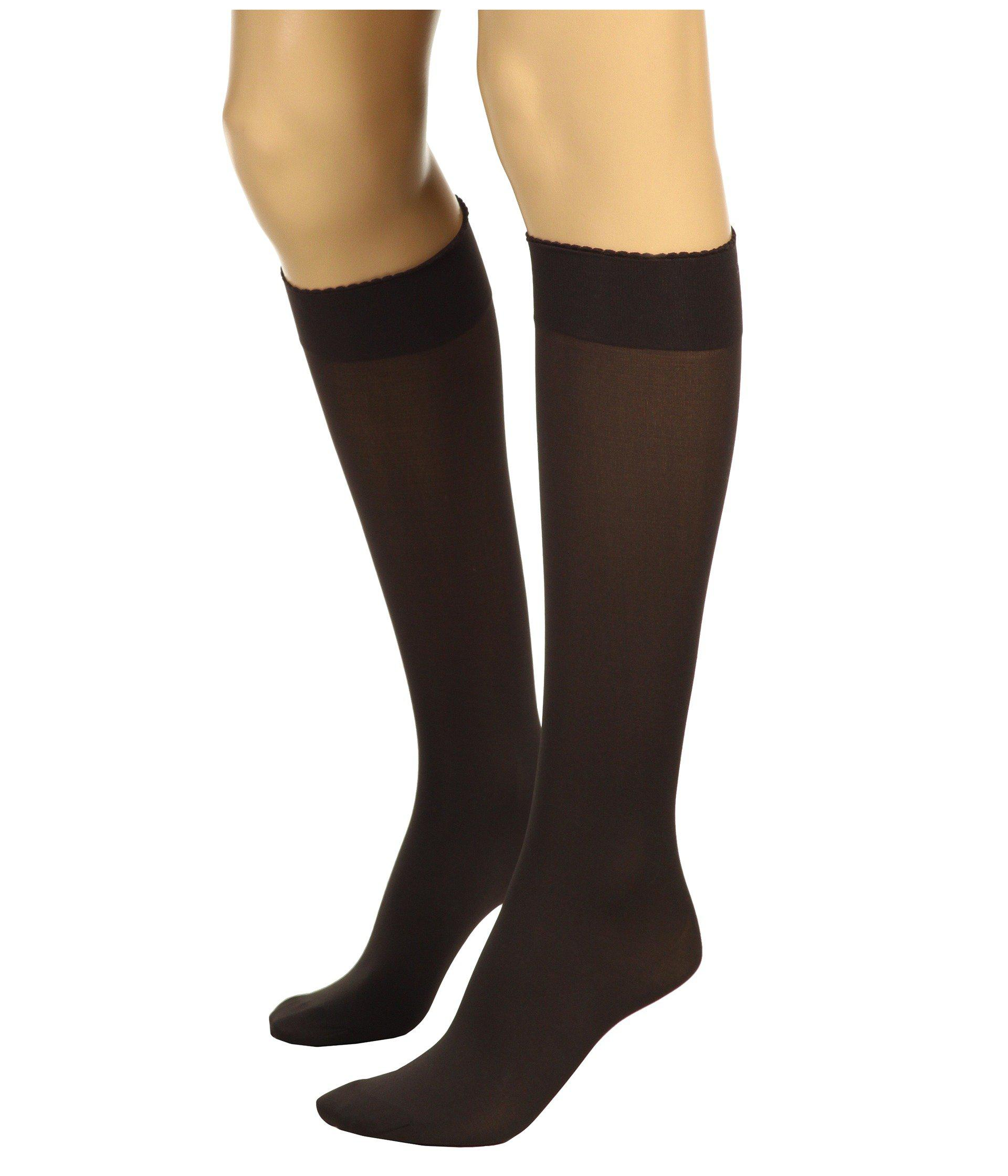 745f8c21890 Lyst - Wolford Velvet De Luxe 50 Knee-highs (admiral) Women s Knee High  Socks Shoes in Black