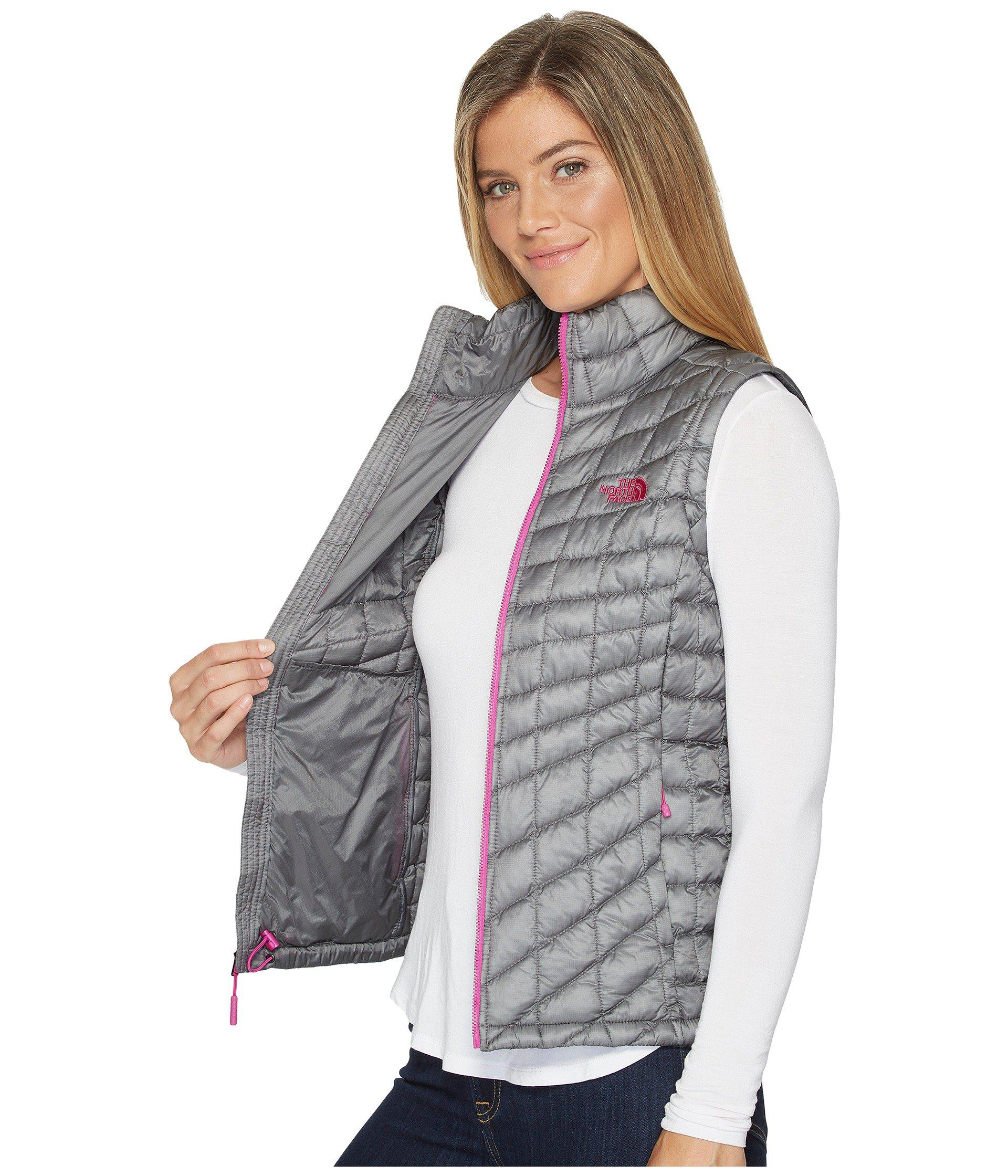 a1f2b24b37ff The North Face - Gray Thermoball Vest (porcelain Green) Women s Vest -  Lyst. View fullscreen