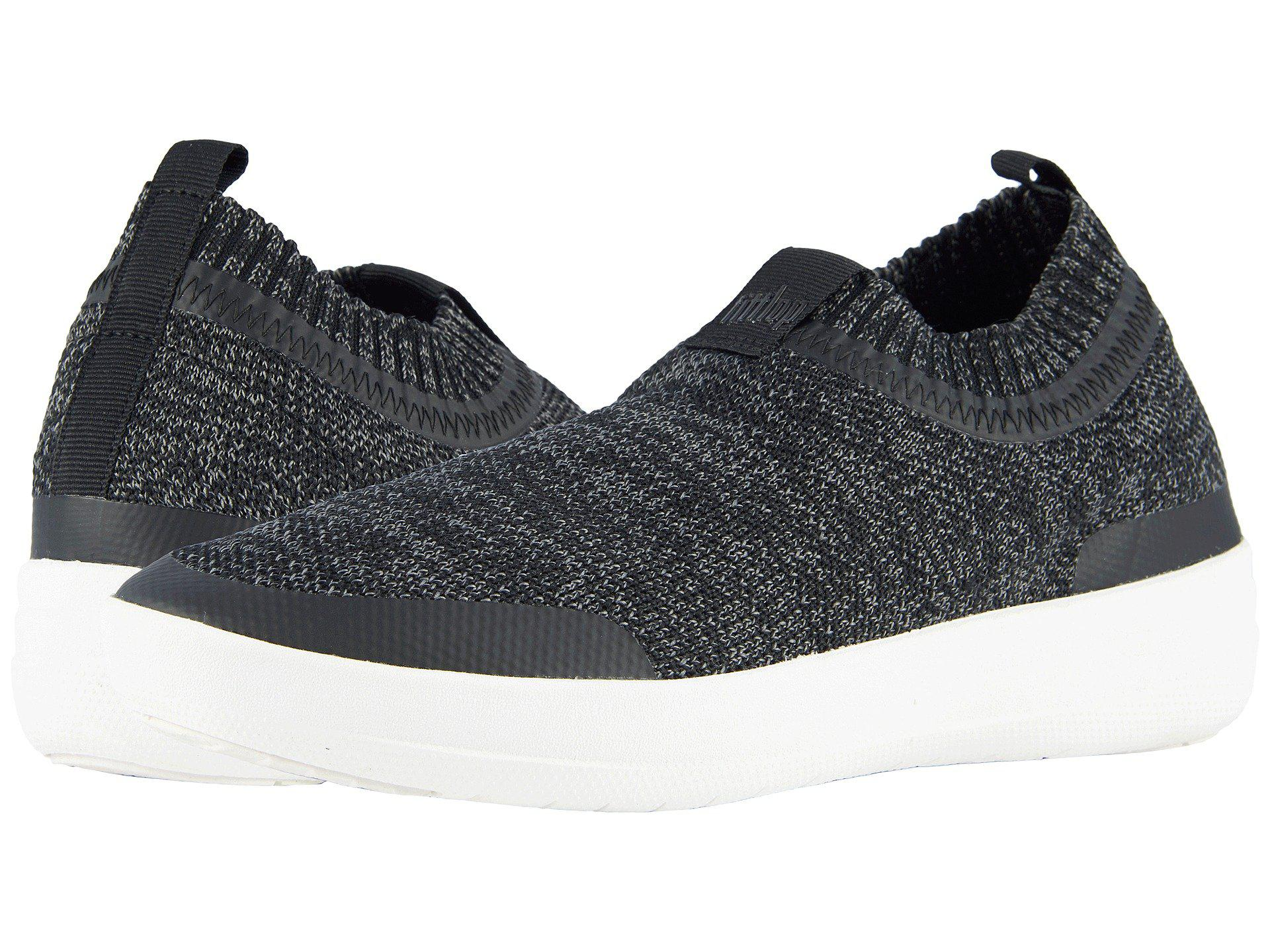b6cd985b23396c Lyst - Fitflop Uberknit Slip-on Sneakers (black soft Grey) Women s ...