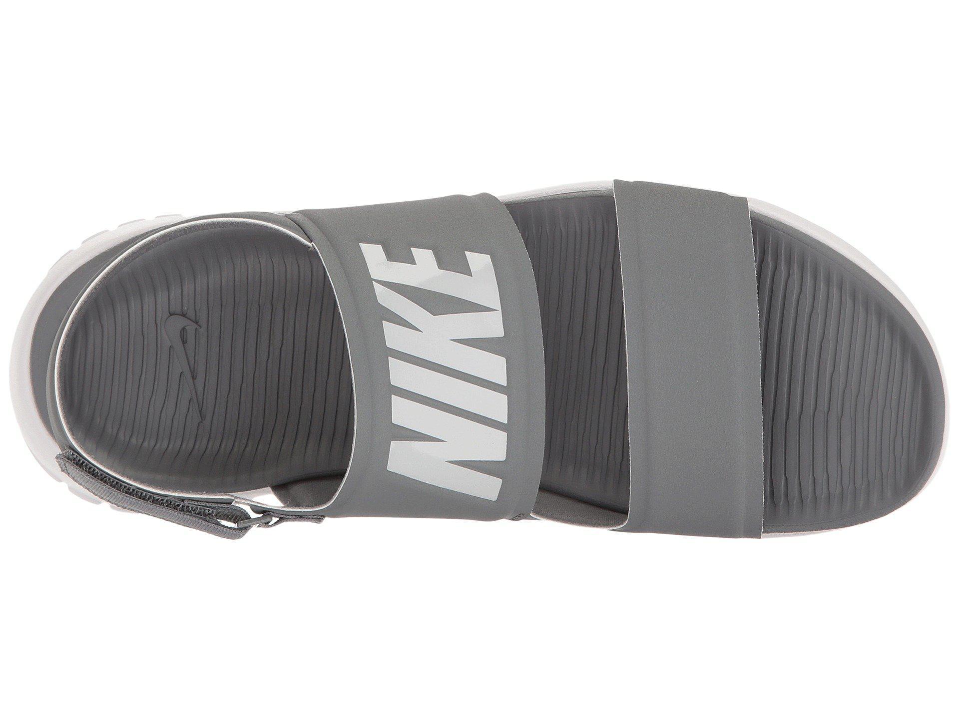fdcfdf30e302 Lyst - Nike Tanjun Sandal (black black white) Women s Shoes in Gray