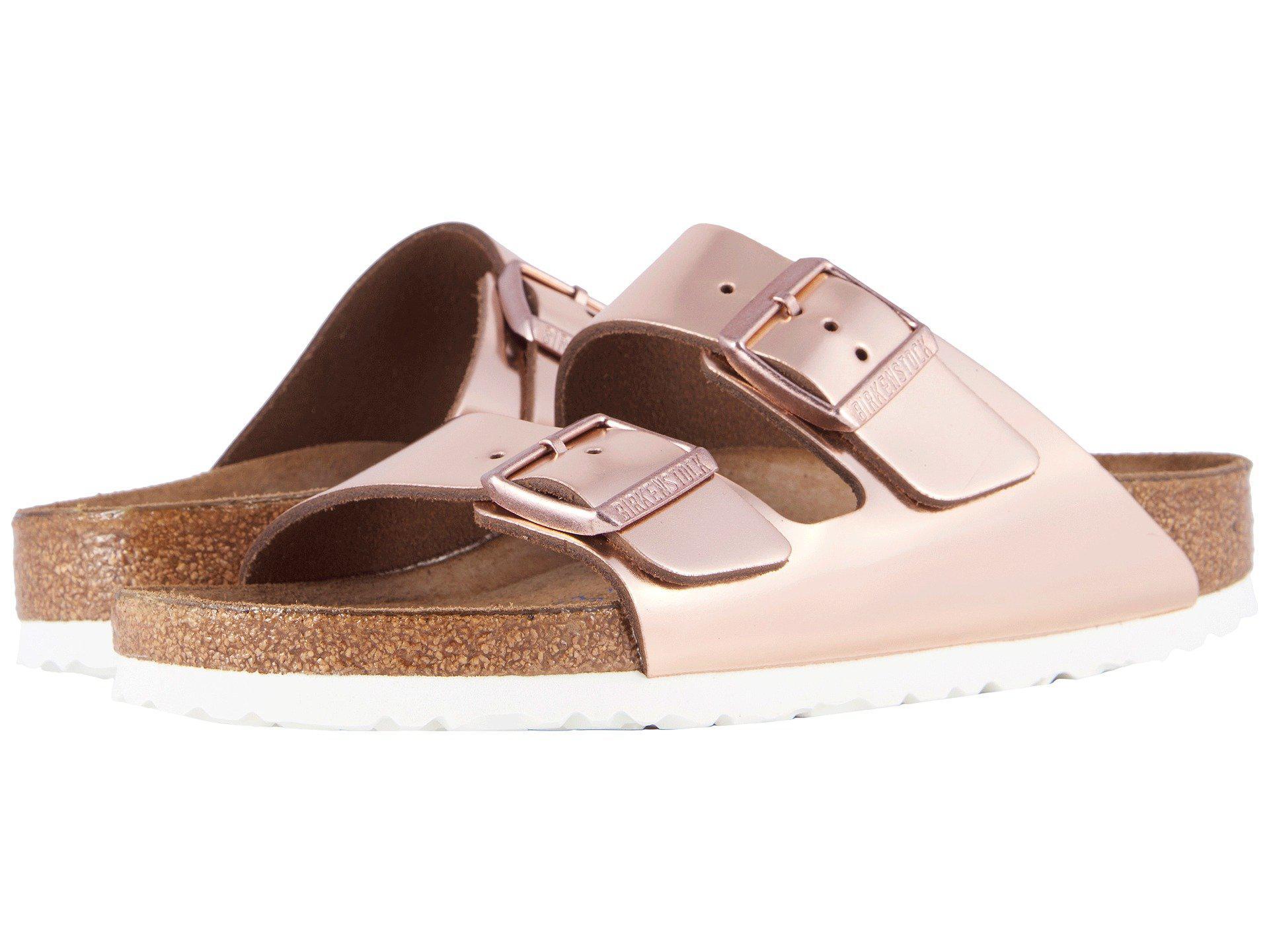 d64275a06752 Lyst - Birkenstock Arizona Soft Footbed (copper Leather) Women s ...
