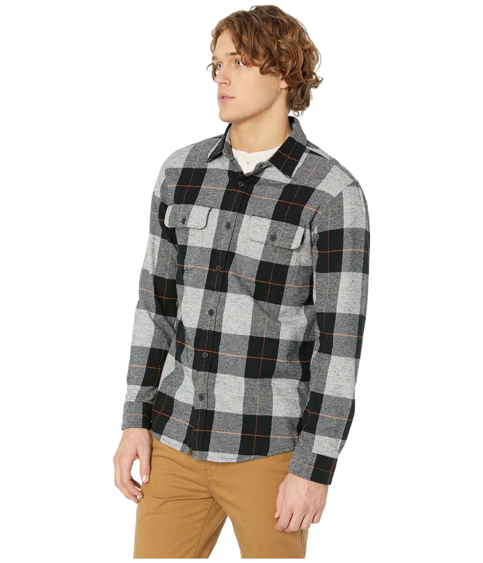 Lyst Rip Curl Shoreline Flannel Shirt Black Men S Clothing In