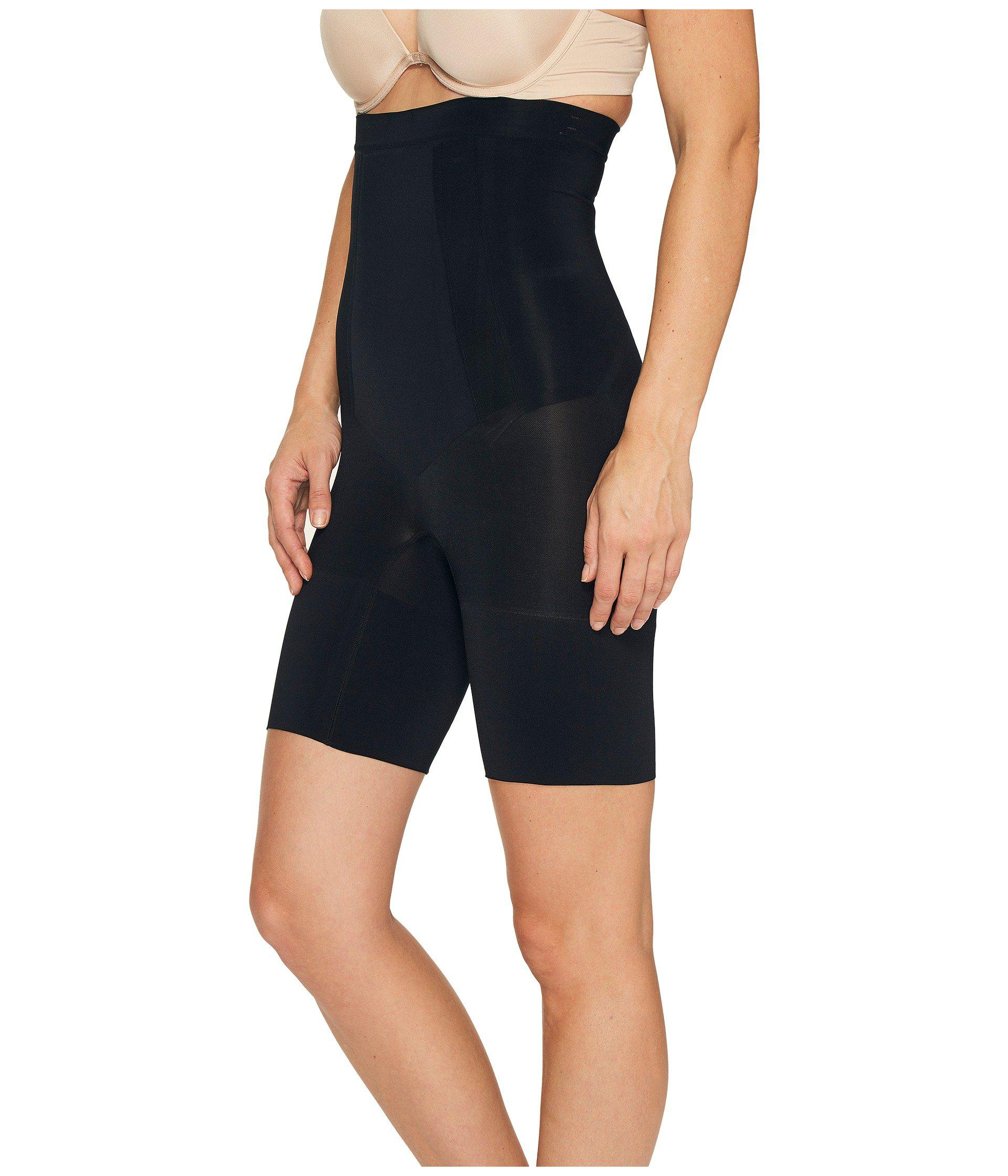f2ac4ff473 Lyst - Spanx Oncore High-waisted Mid-thigh Short (very Black) Women s  Underwear in Black