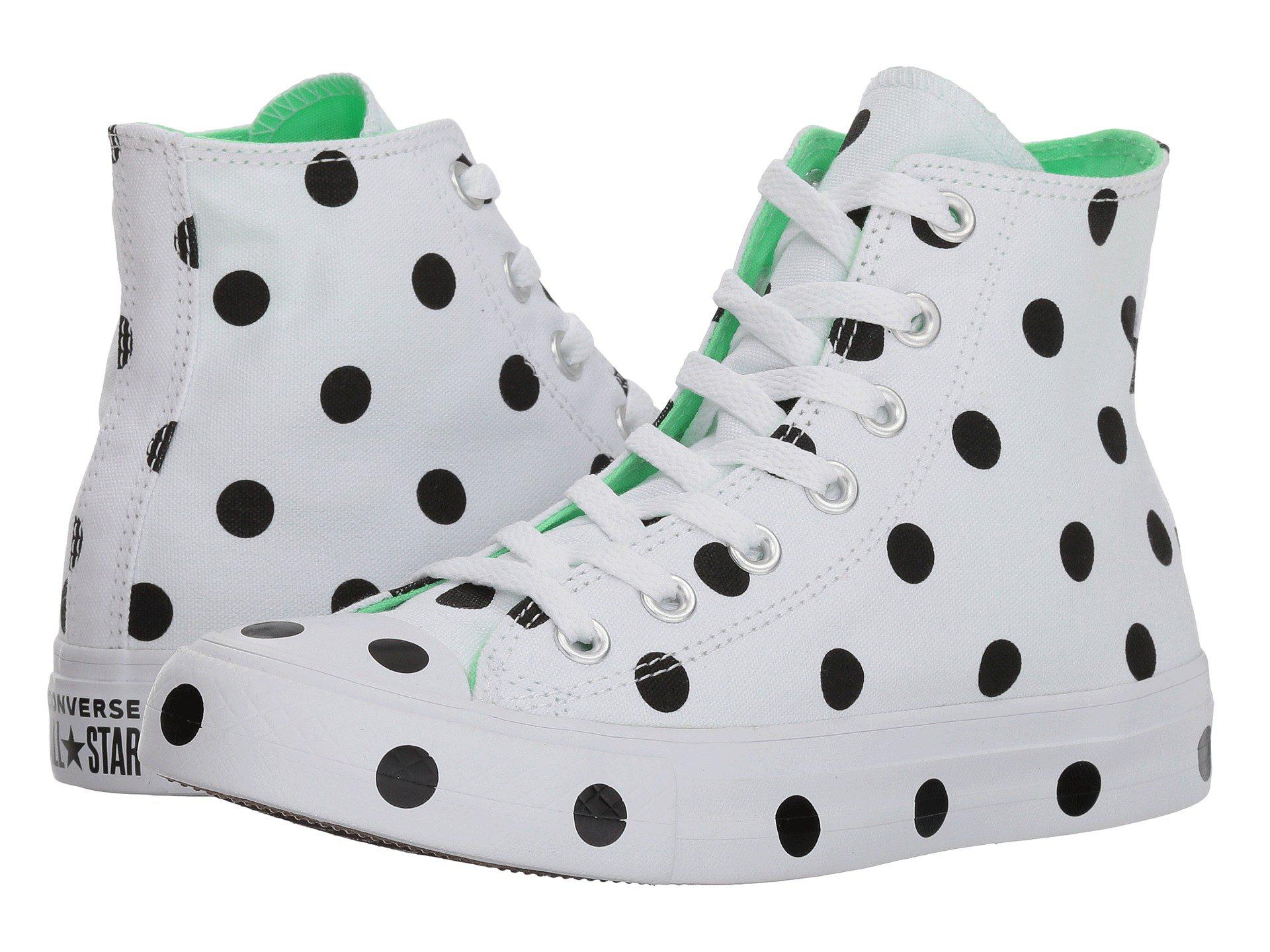 f6a6738f8a18a Converse Ctas Hi White/black/illusion Green Top Trainers