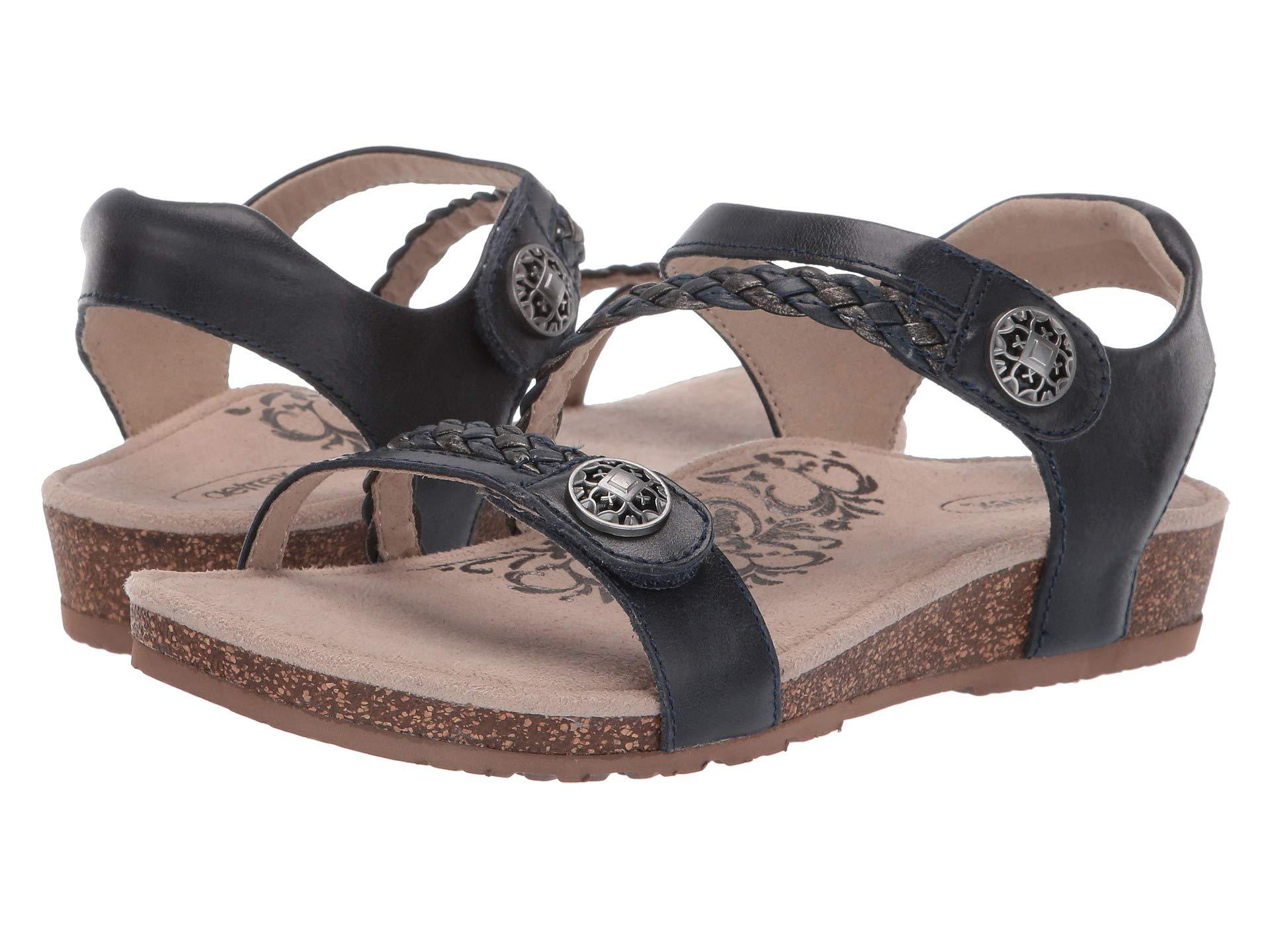 10923a2371a Lyst - Aetrex Jillian Quarter Strap (blush) Women s Sandals in Blue
