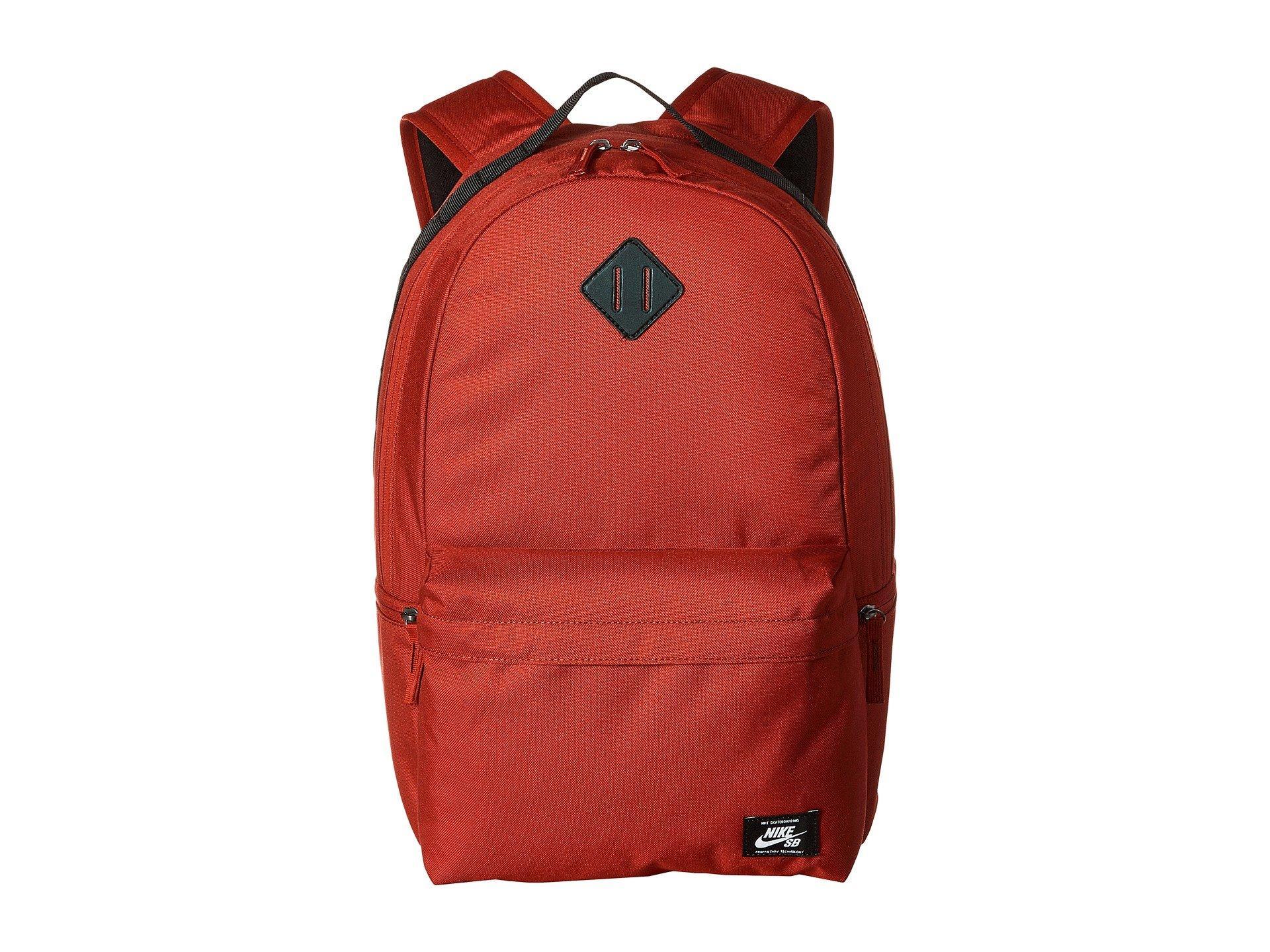 Nike Sb Icon Backpack Red Crush Black White Backpack Bags For Men