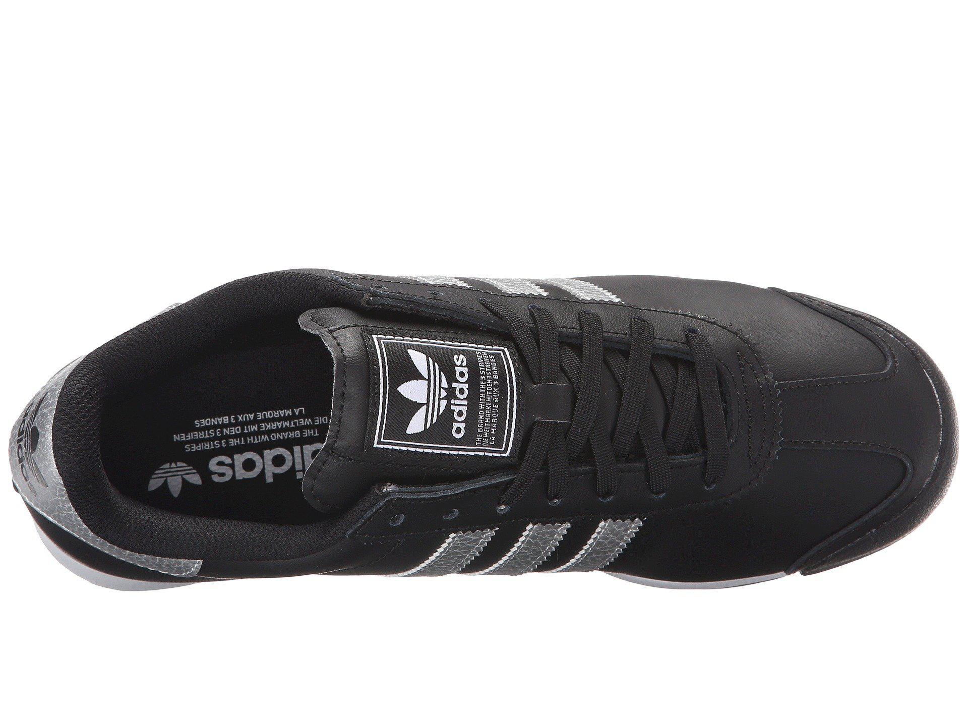 new product ecbdb e32a9 Lyst - adidas Originals Samoa Leather (core Black core Black core ...