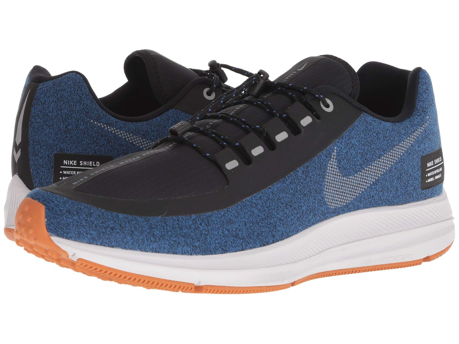 8613c69350680f Lyst - Nike Air Zoom Winflo 5 Run Shield (black metallic Silver ...