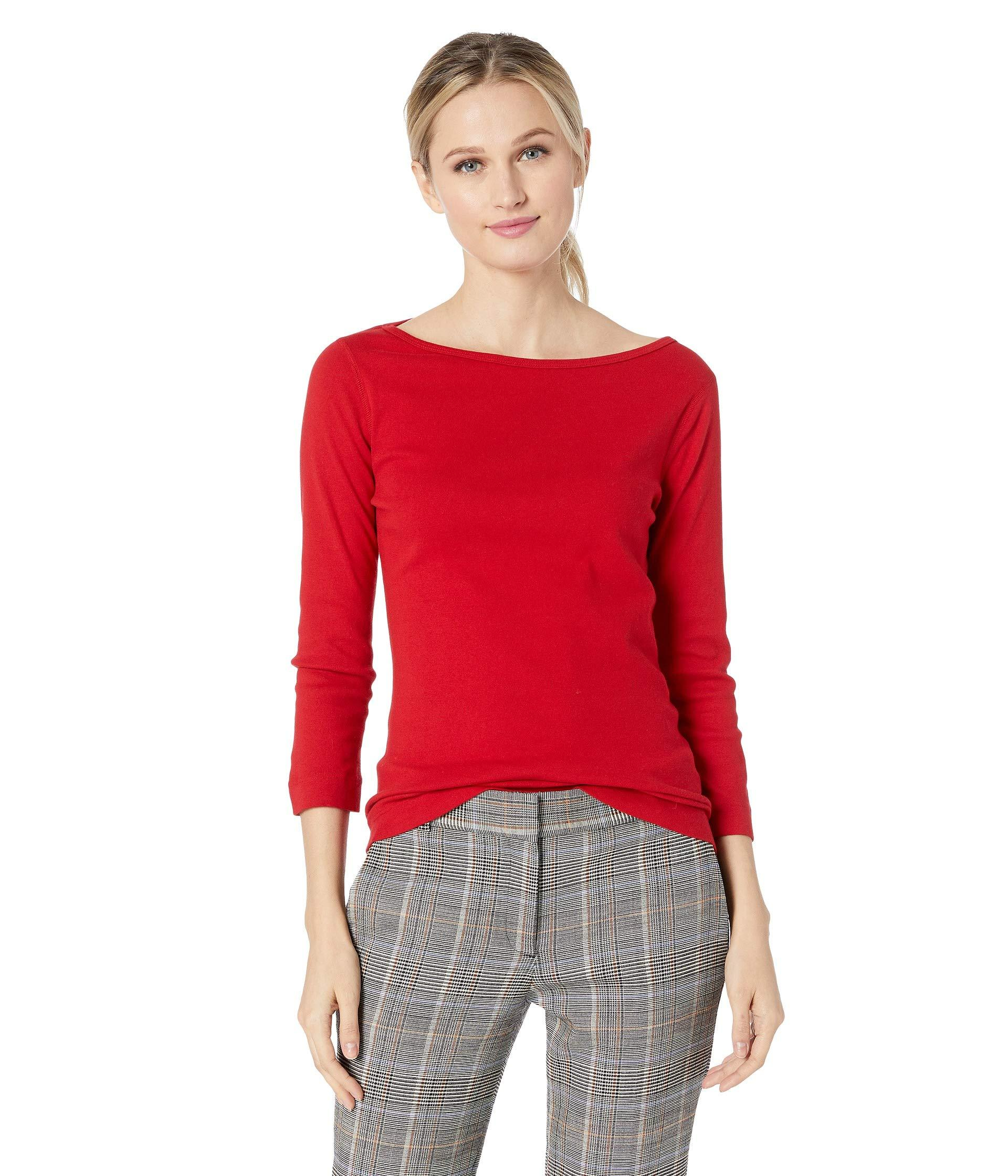 0bffd4402705 Three Dots 100% Cotton Heritage Knit 3/4 Sleeve British Tee ...