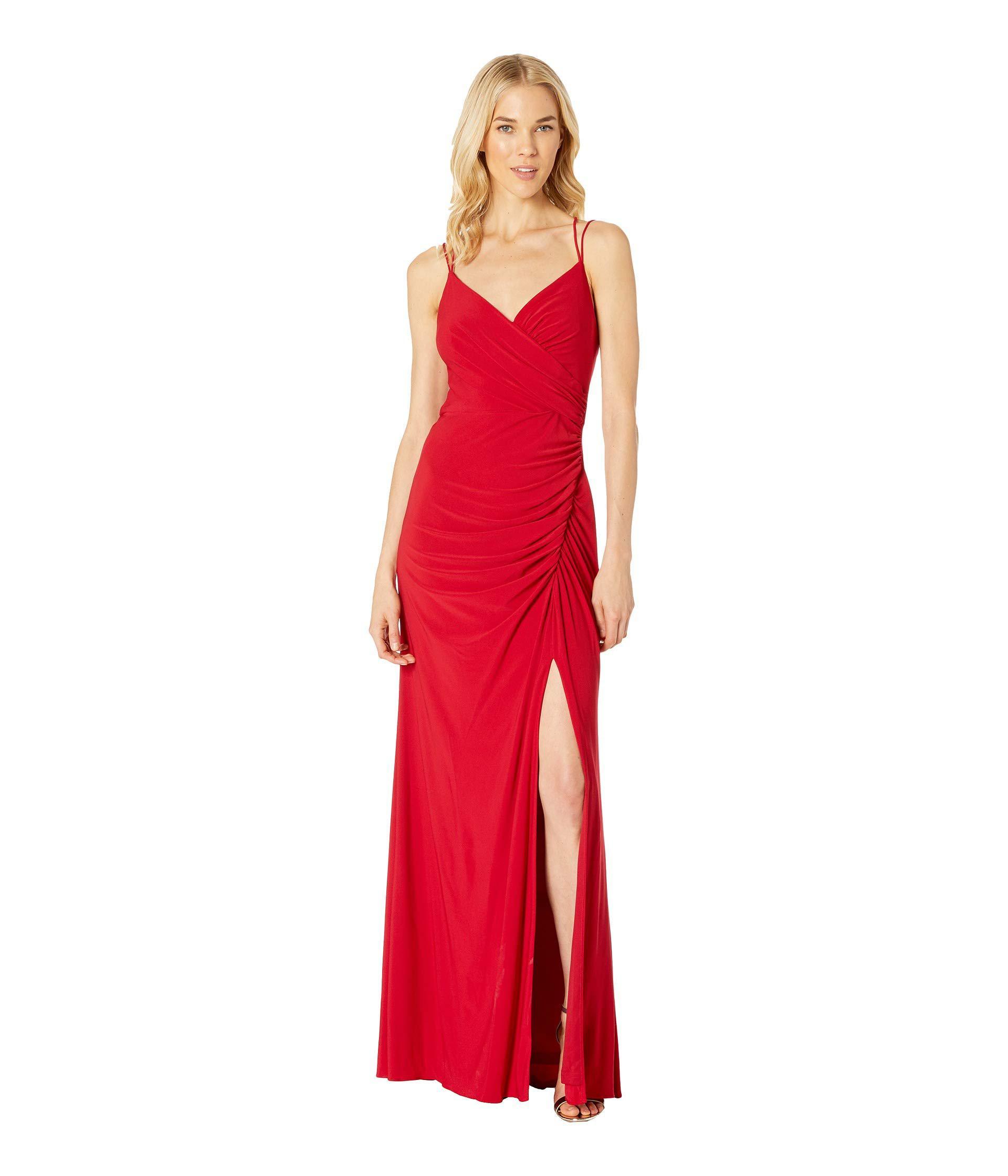 a6ad779b9a047 Lyst - Adrianna Papell Jersey Long Dress (cardinal) Women s Dress in Red