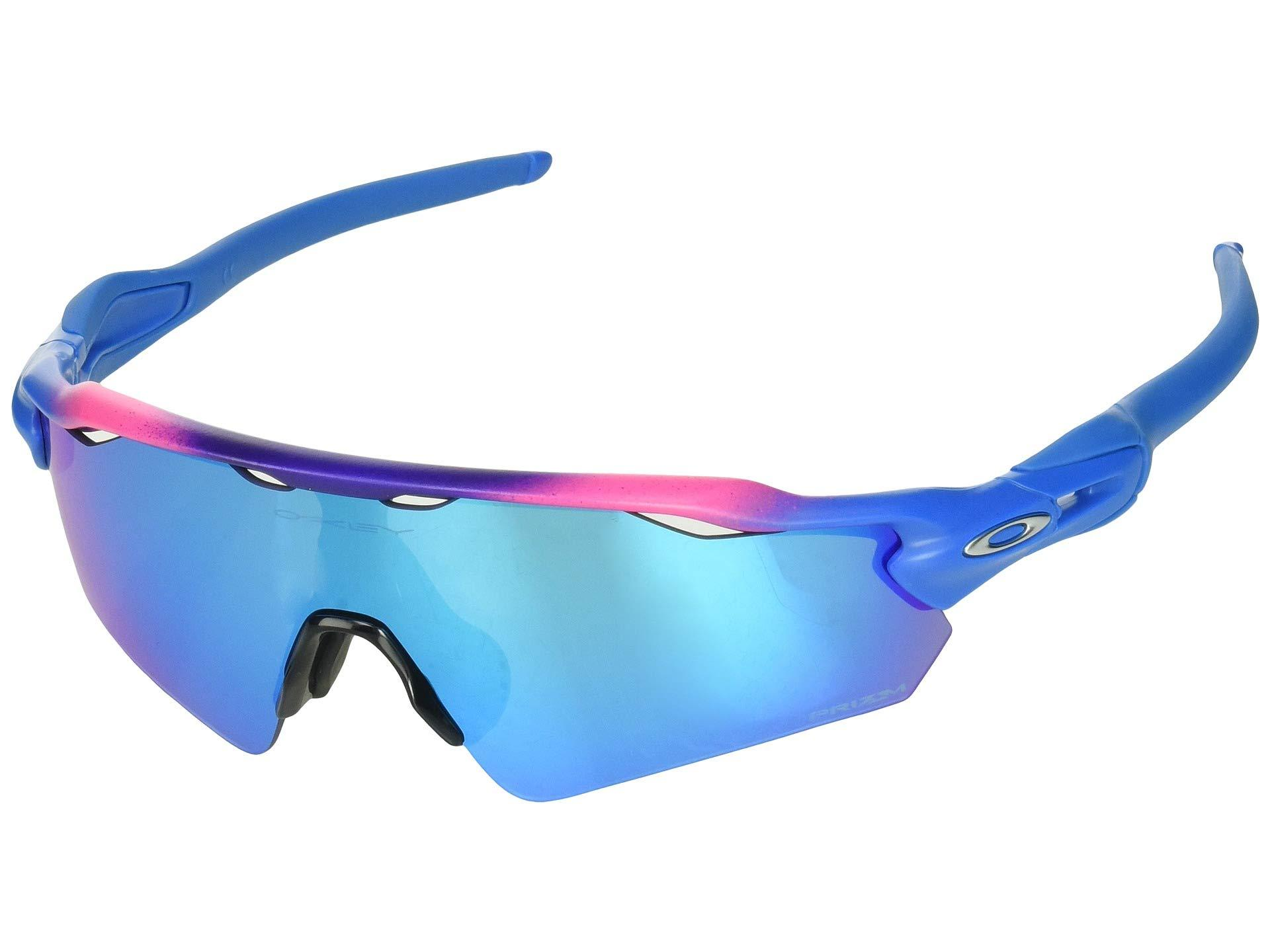 fab61db5ea Oakley. Men s Blue Radar Ev Asian (matte Black W black Iridium) Sport  Sunglasses