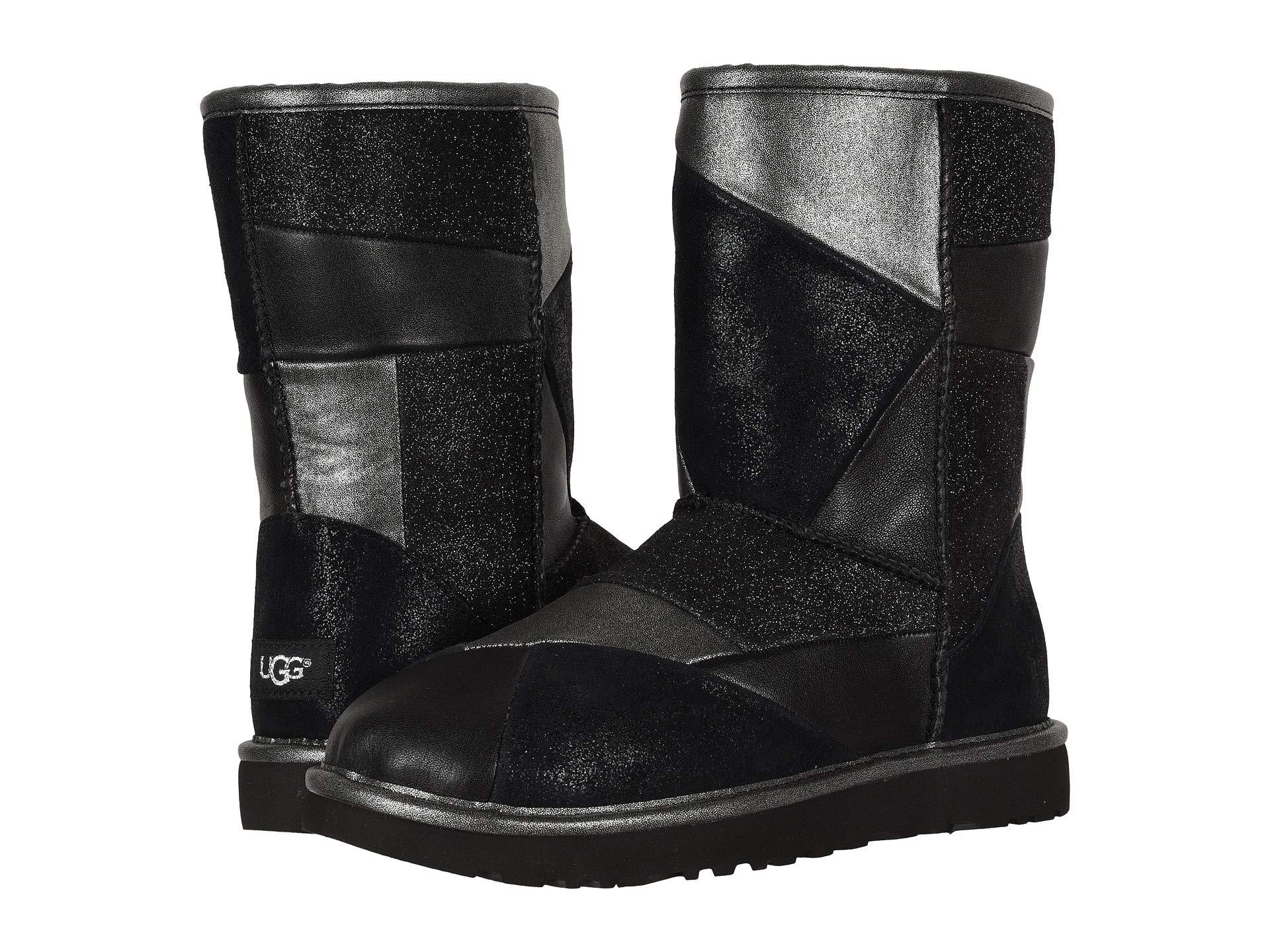 054a62a4f05 Black Classic Glitter Patchwork (gold) Women's Pull-on Boots
