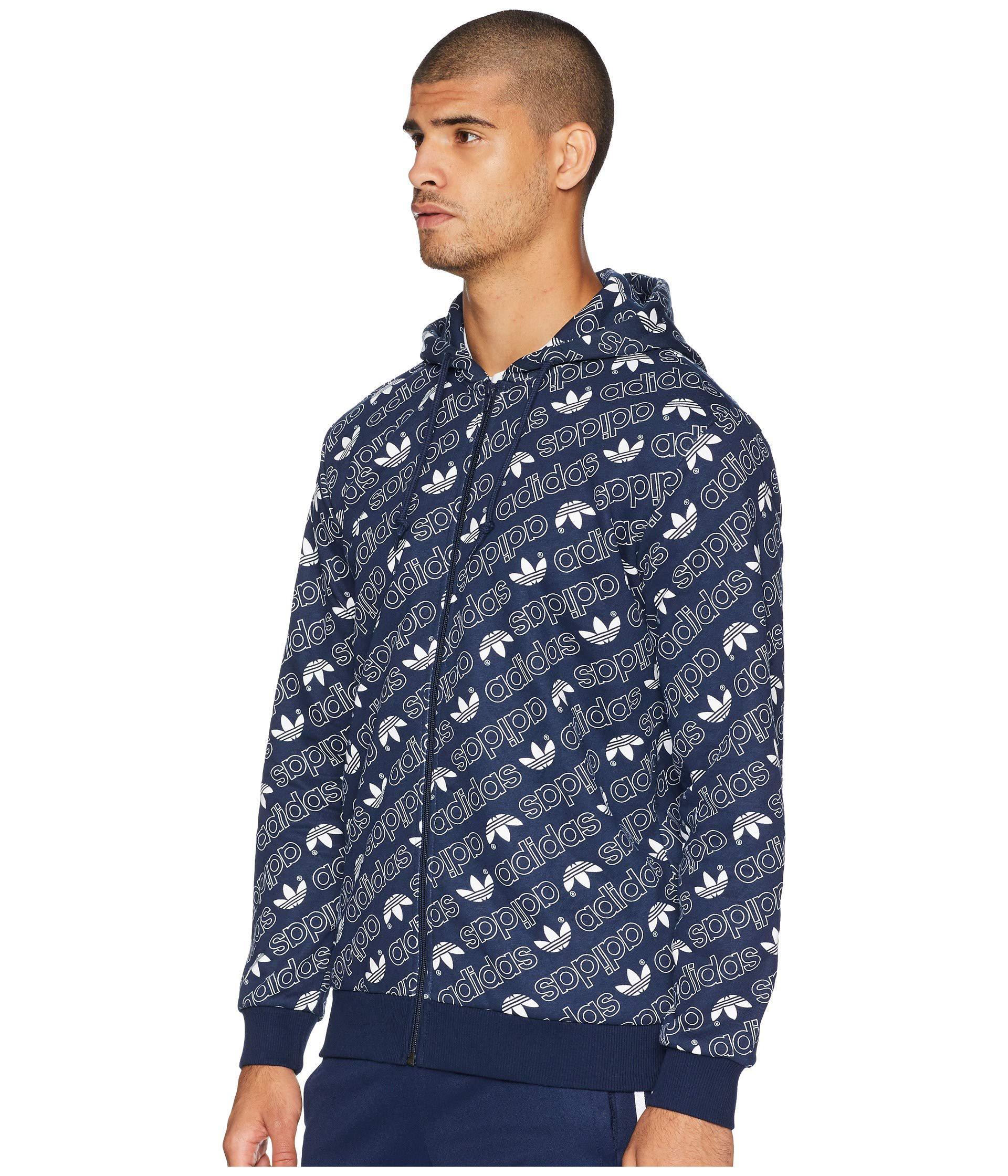 Monogram Full Zip Hoodie (collegiate Burgundy) Men's Sweatshirt