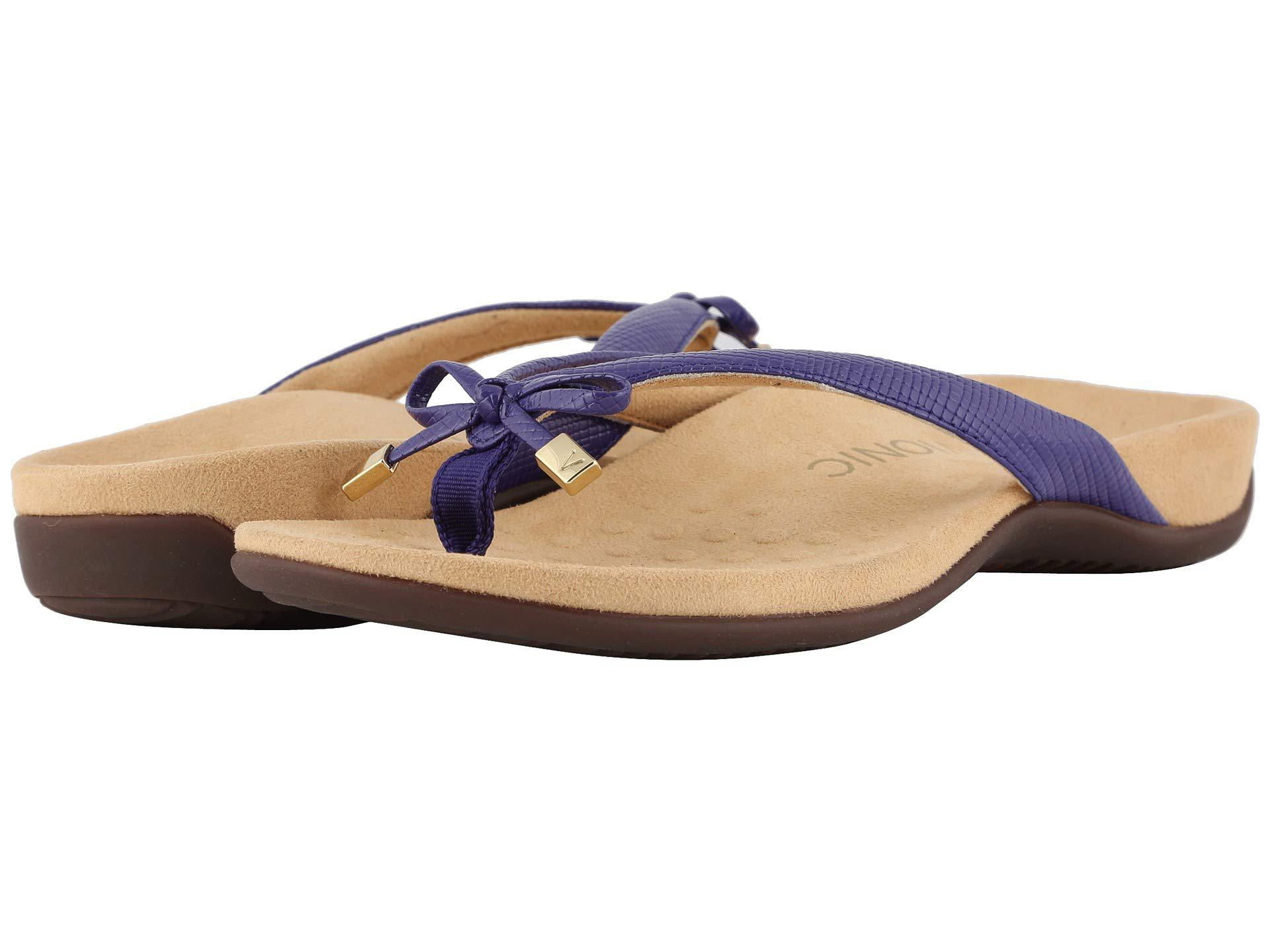 6611cb7ae4c6 Lyst - Vionic Bella Ii Lizard (black) Women s Sandals in Purple
