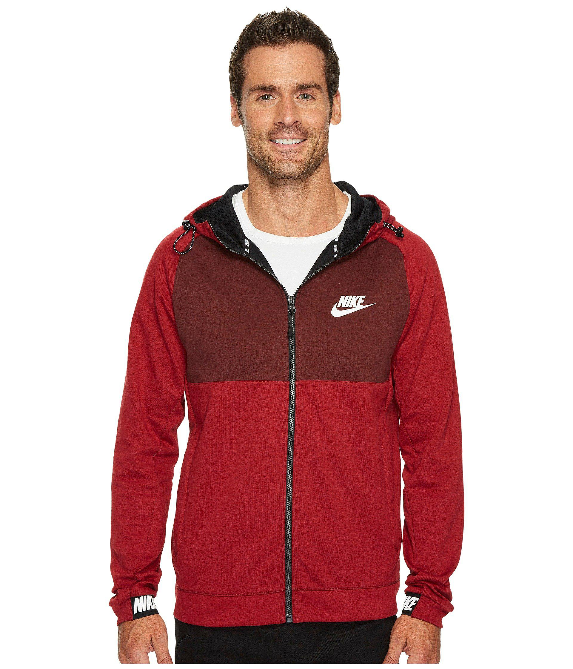 nike dark red hoodie