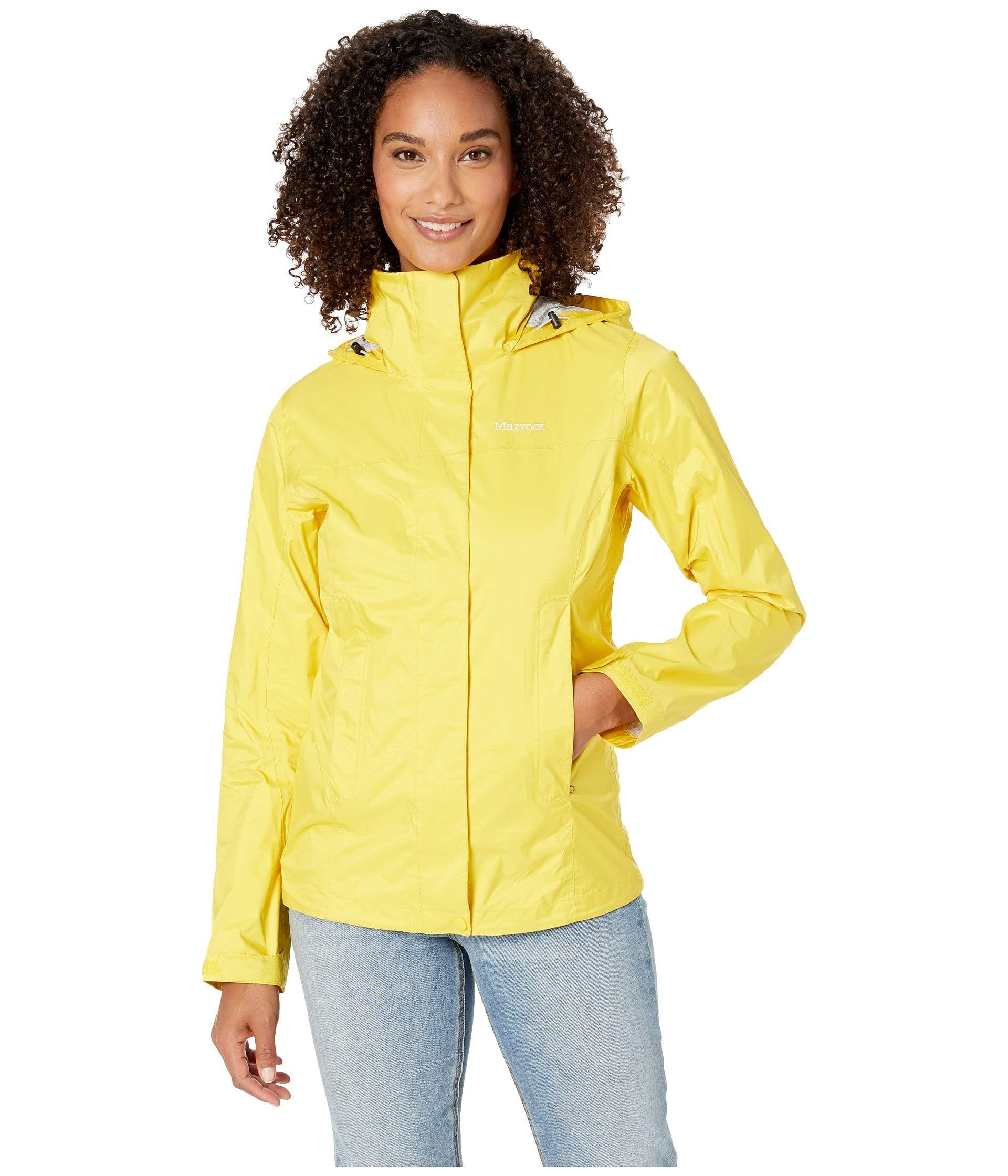 best place cute cheap on sale Marmot Synthetic Precip(r) Eco Jacket in Yellow - Lyst