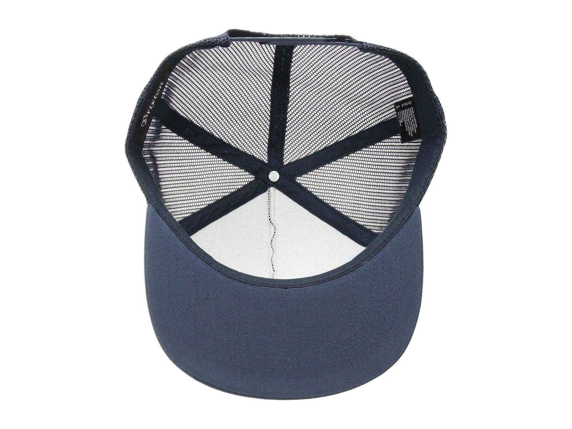 4950a1f611 Brixton Blue Grade High Profile Adjustable Mesh Hat for men